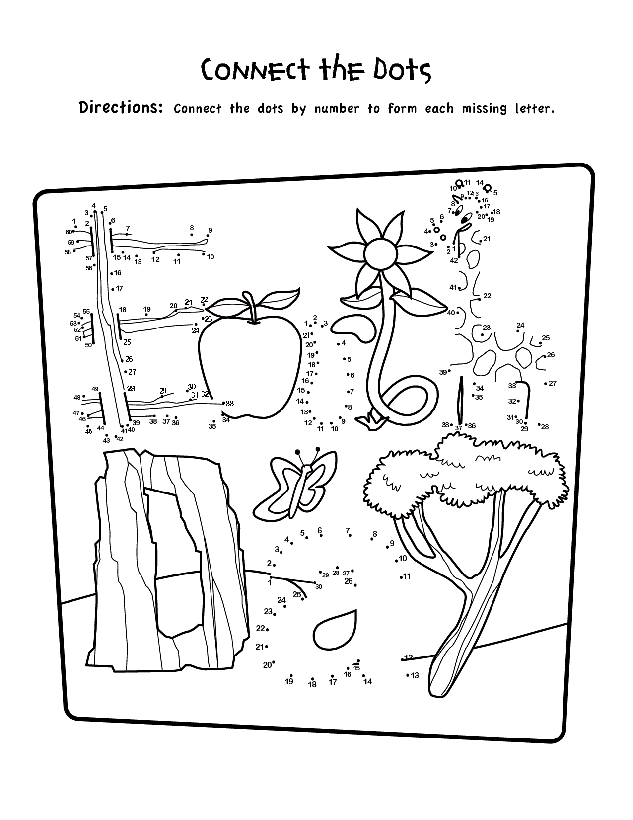 9 Best Images Of 1st Grade Worksheets Connect The Dots