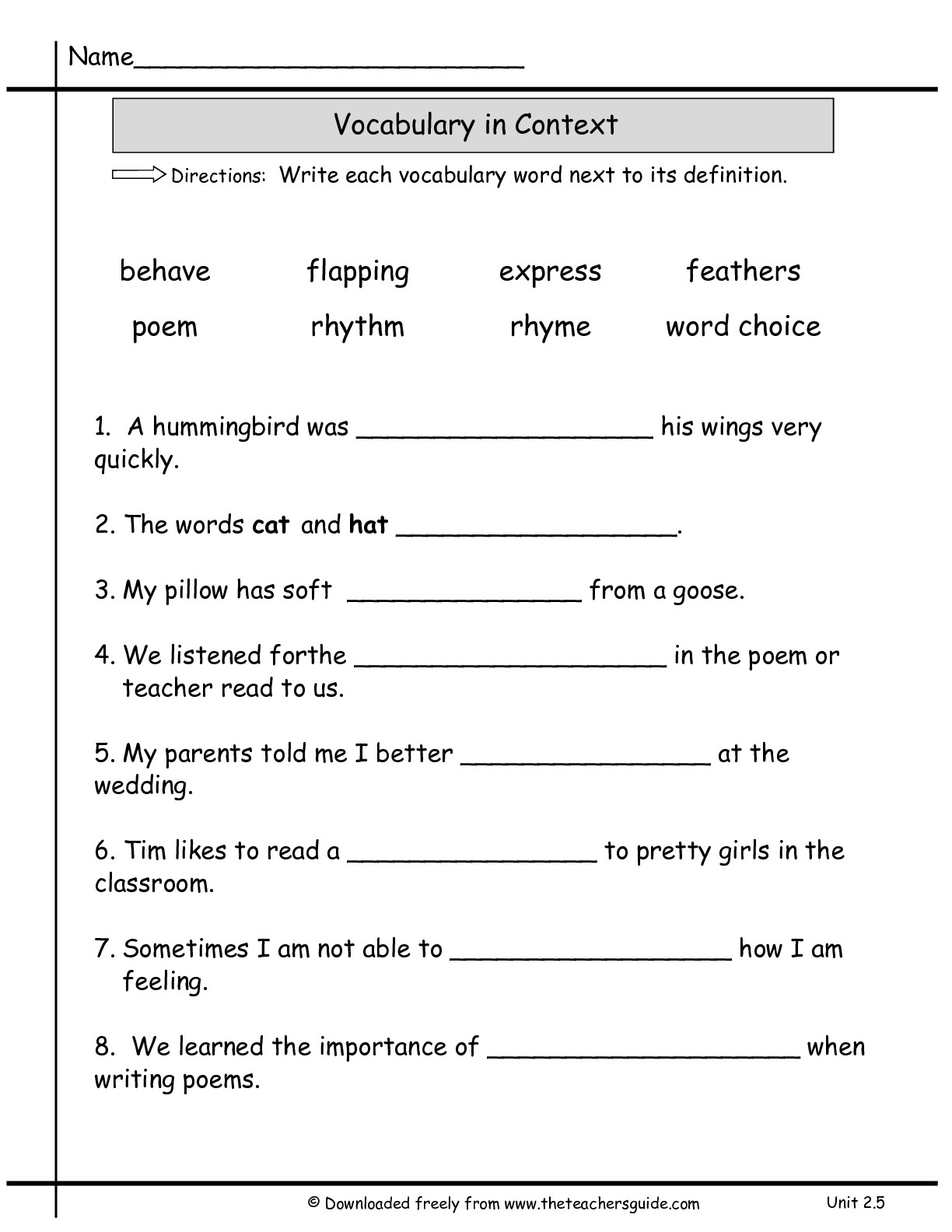 Worksheet Verb Tense Consistency