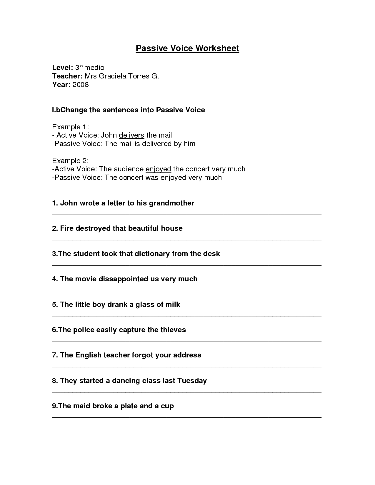 Cozy Printable Worksheets Active Passive Voice Worksheets