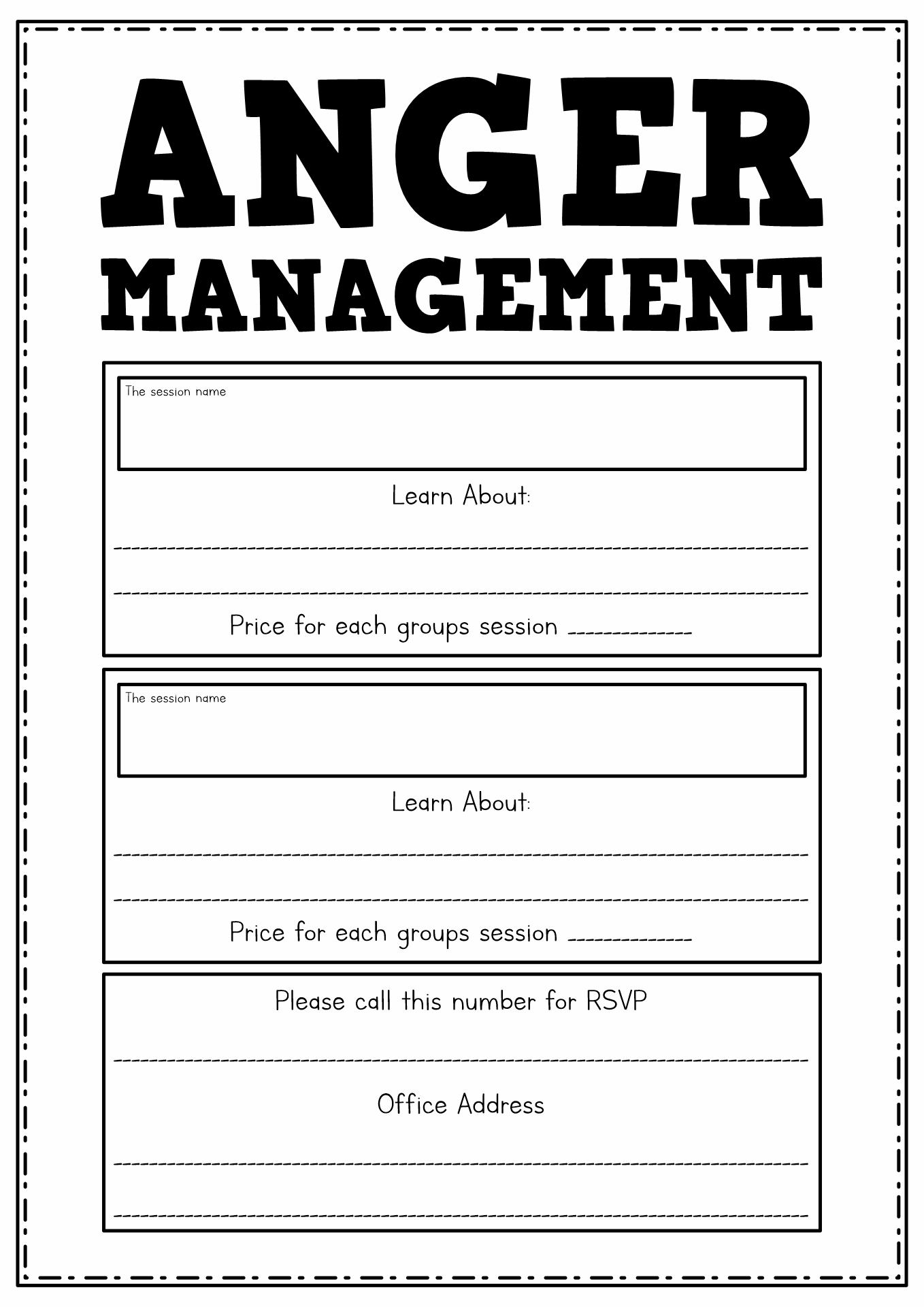 Anger Reflection Worksheet