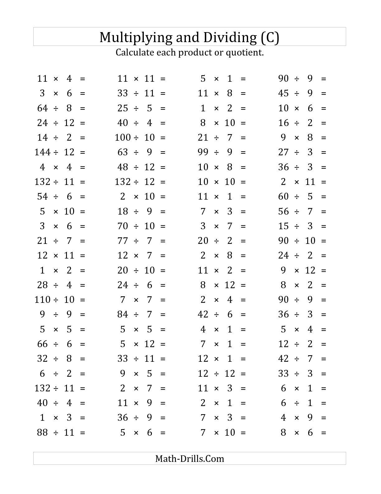 16 Best Images Of 100 Division Math Worksheets