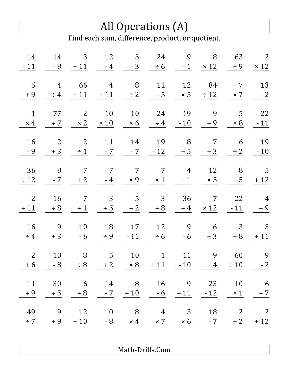 16 Best Images Of 100 Division Math Worksheets