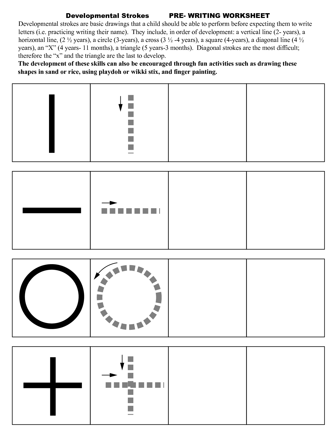 14 Best Images Of Preschool Handwriting Worksheets Stroke