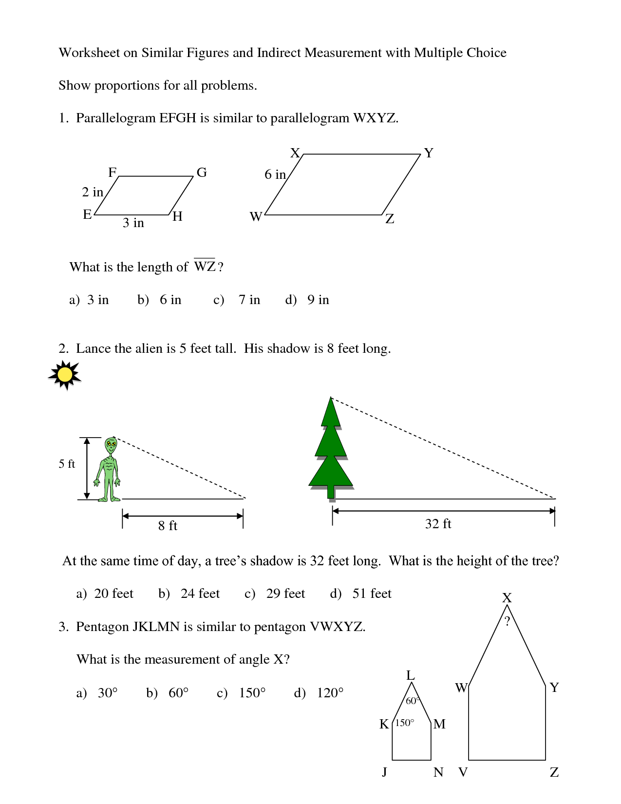 9 Best Images Of Geometry Similar Polygons Worksheet