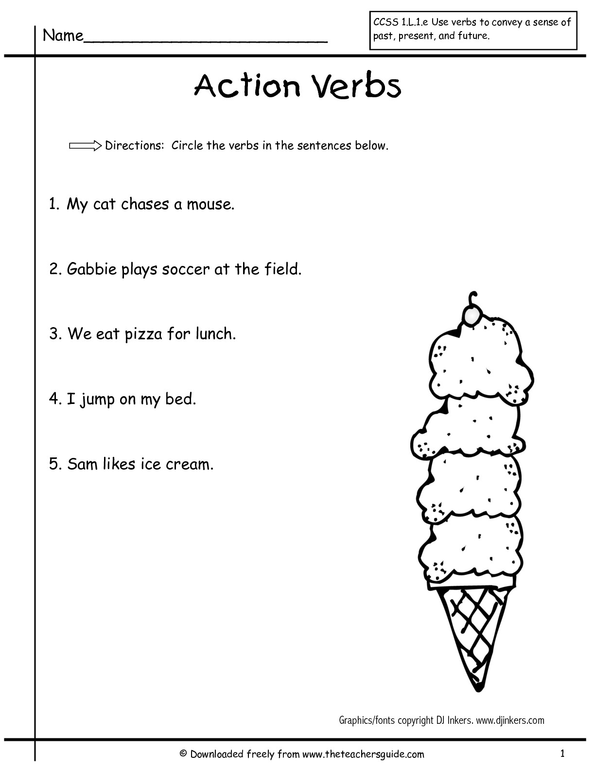 Auxiliary Verb Worksheet 1st Grade