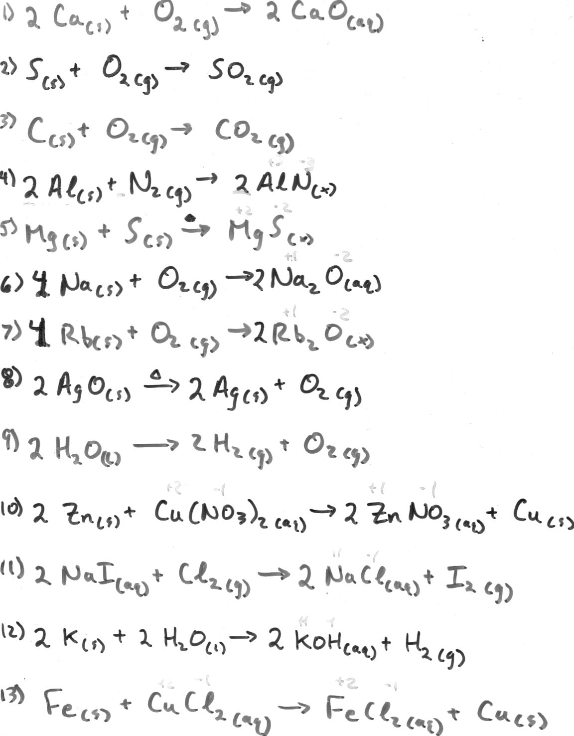 14 Best Images Of Balancing Chemical Reactions Worksheet