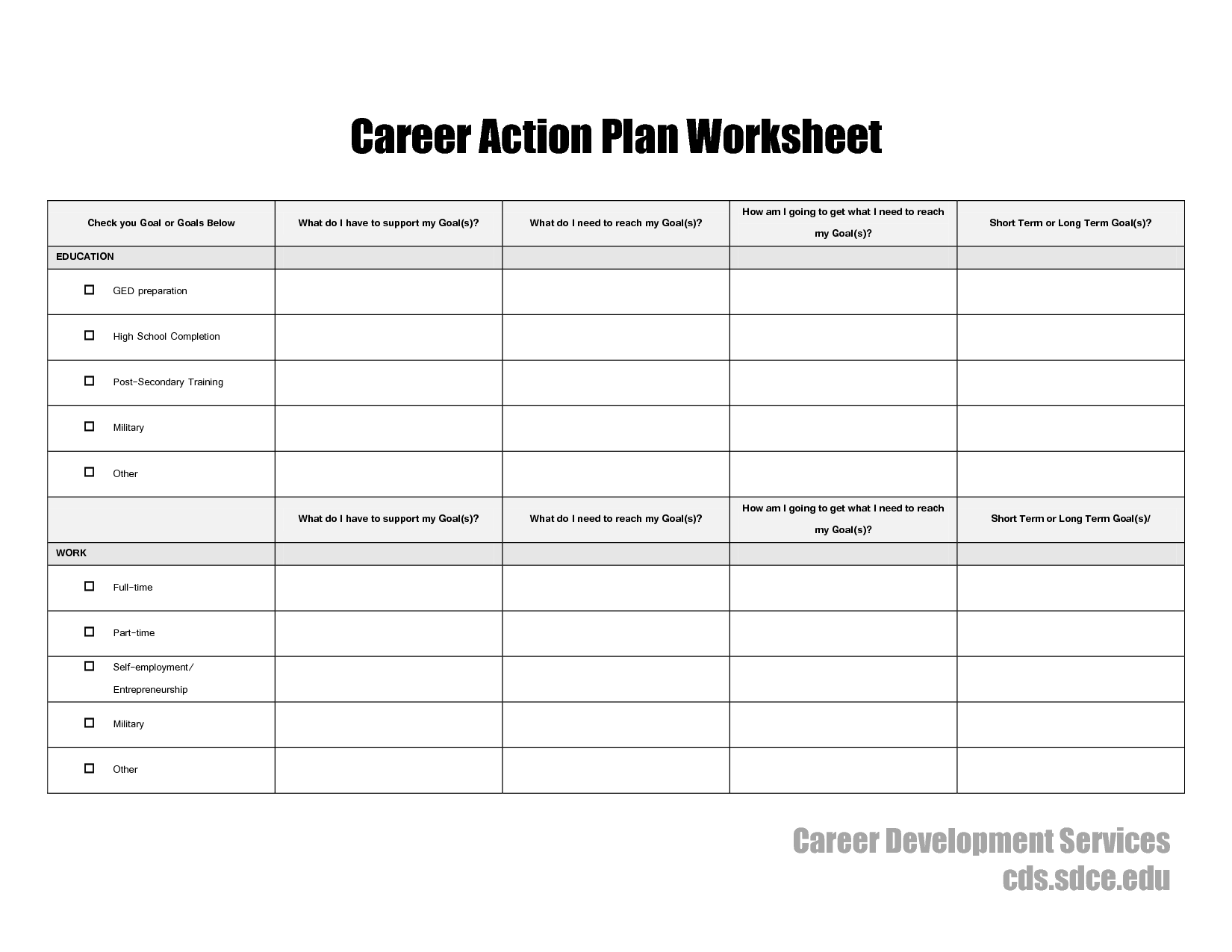 17 Best Images Of Career Planning In College Psychology