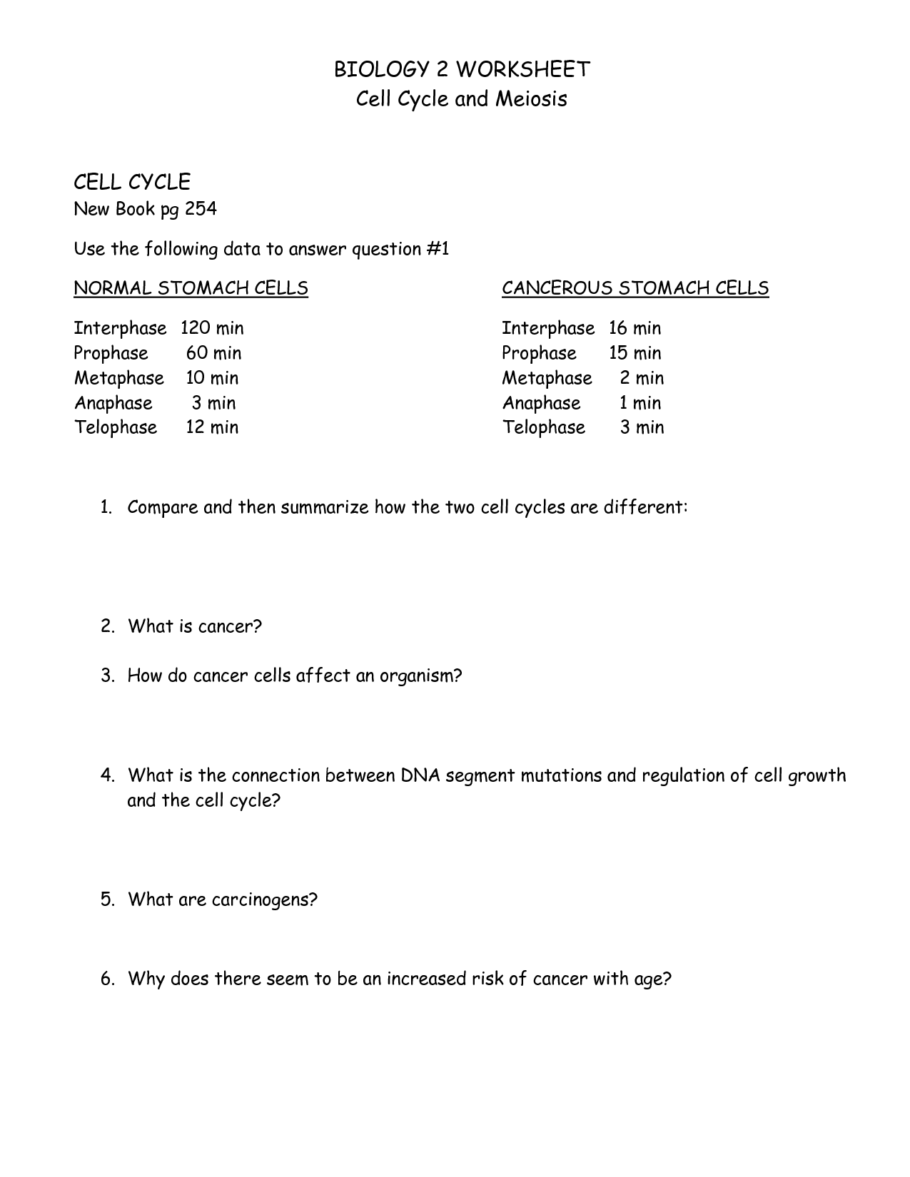15 Best Images Of Biology Corner Meiosis Worksheet