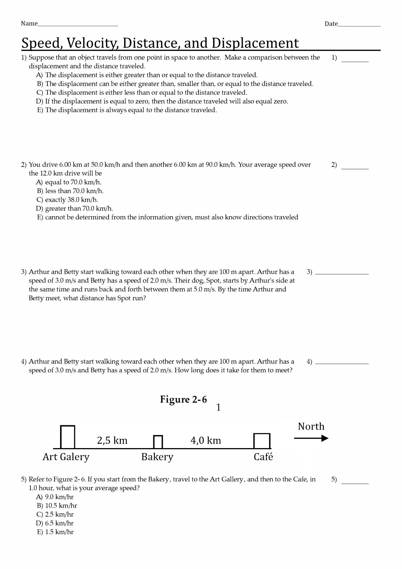 Water Displacement Method Worksheet