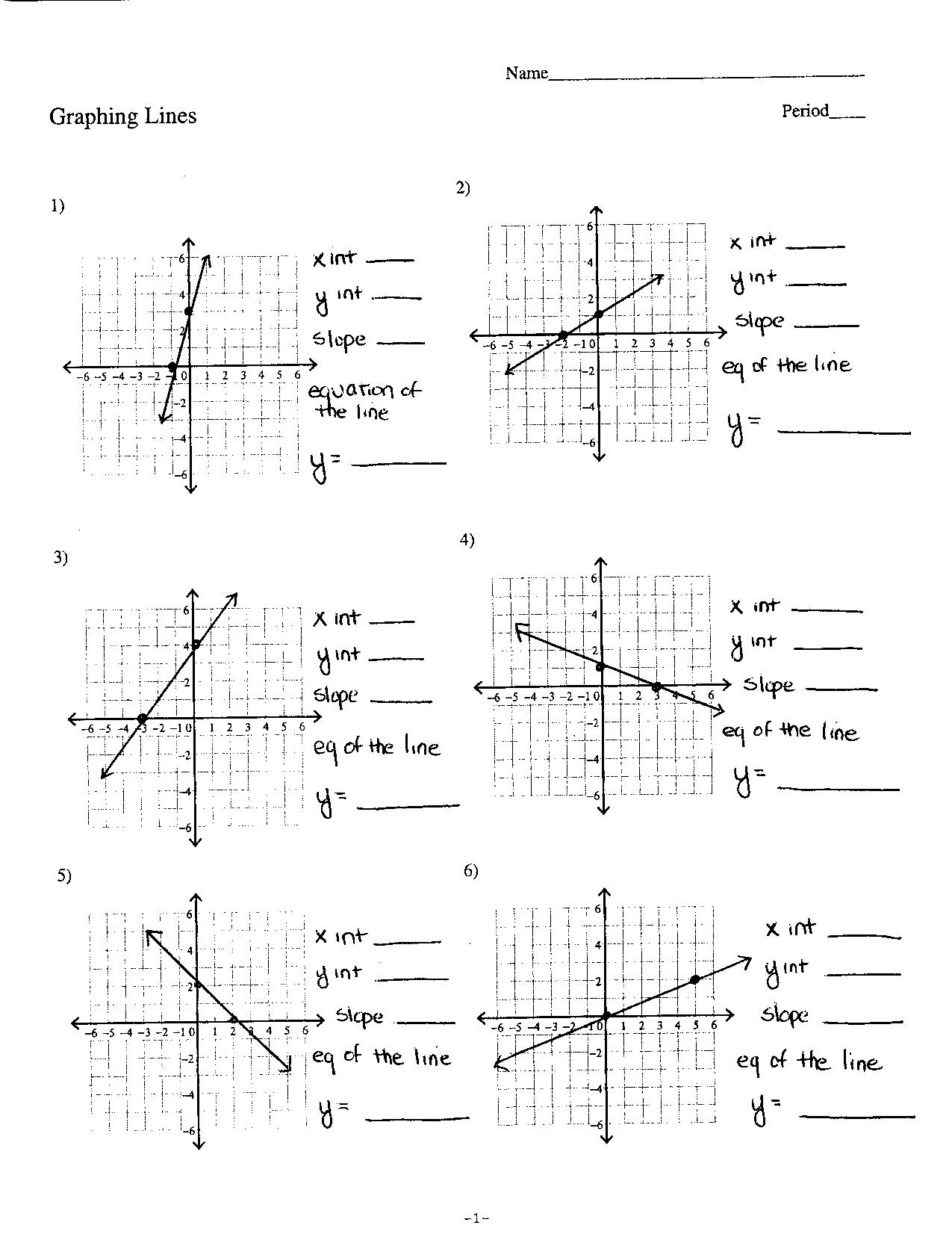 Solving Systems Of Equations Graphing Worksheet