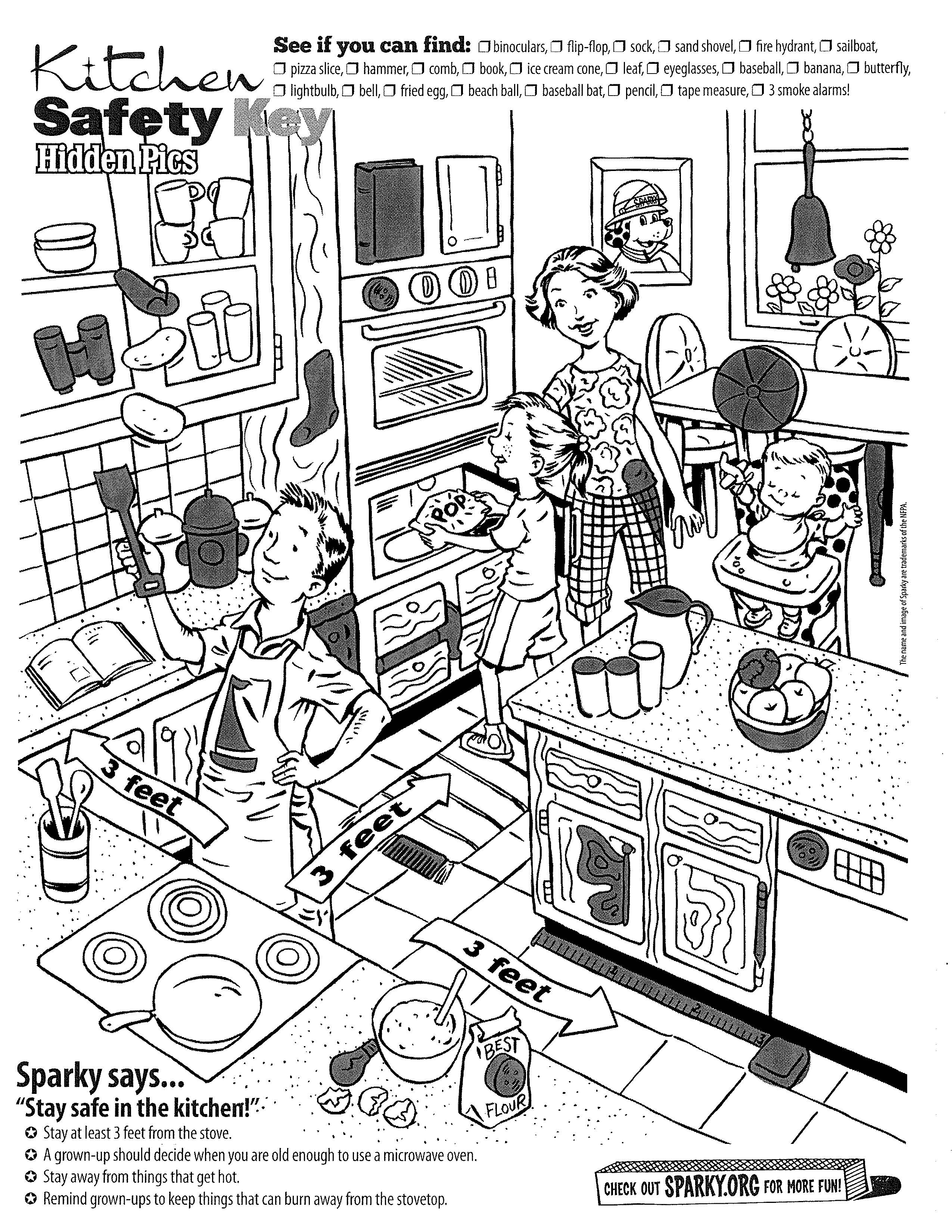 14 Best Images Of Kitchen Safety Worksheets