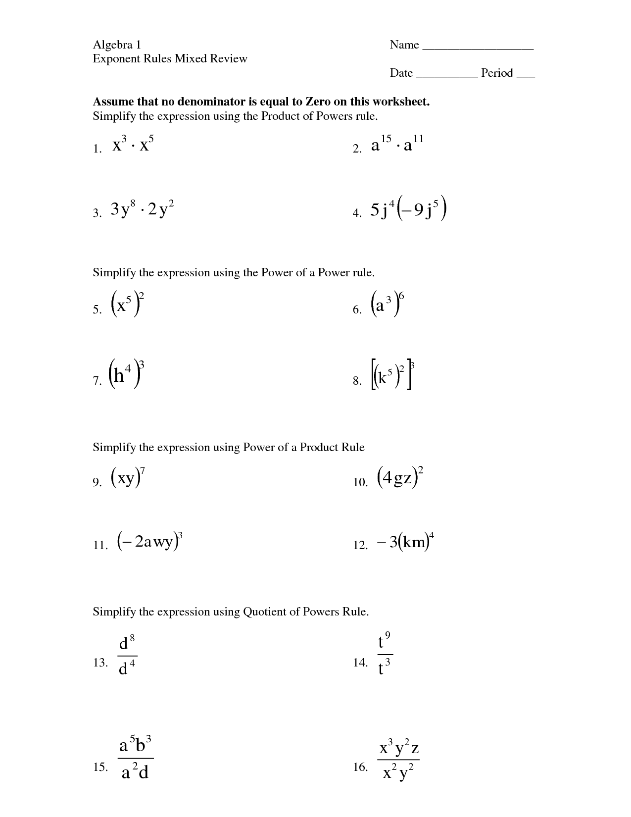 29 Why Are There Rules In Croquet Math Worksheet Answers