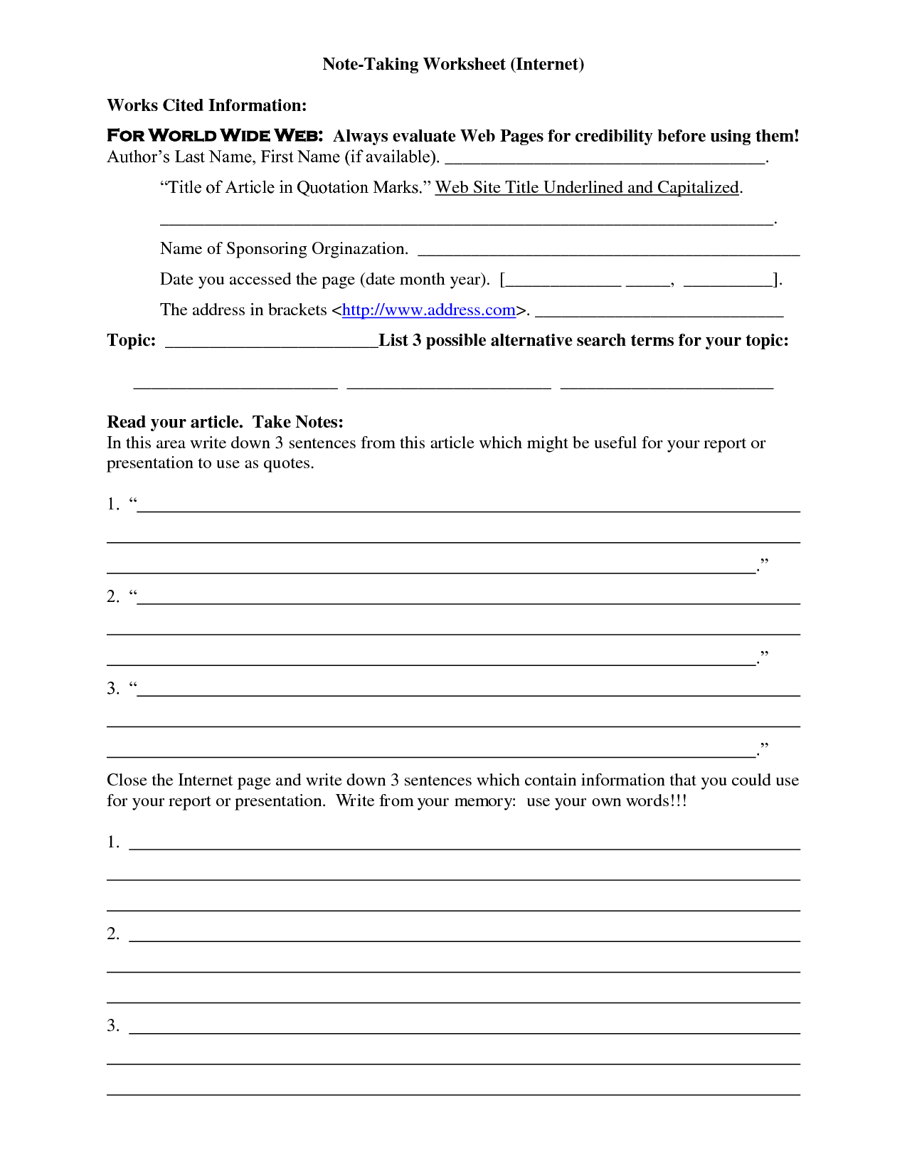 4th Grade Worksheet Quotation Marks