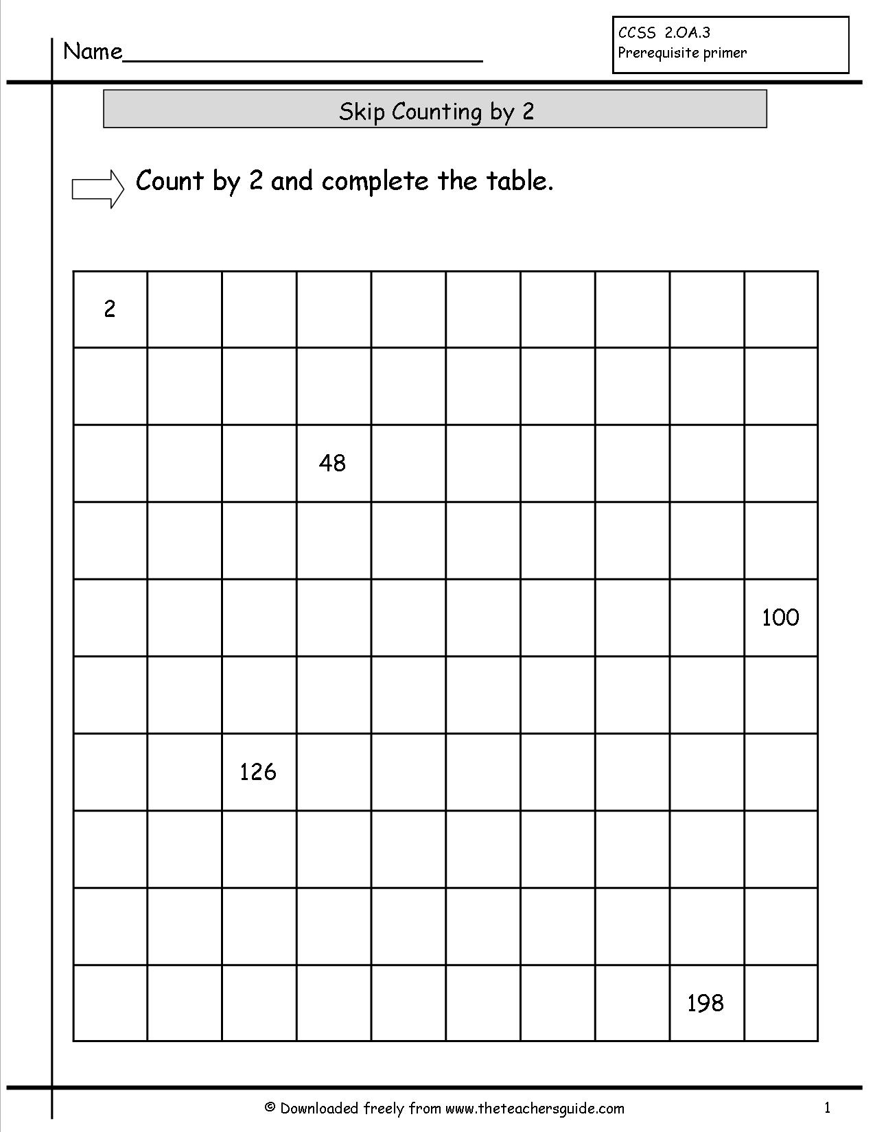 15 Best Images Of Skip Counting By 100 Worksheets