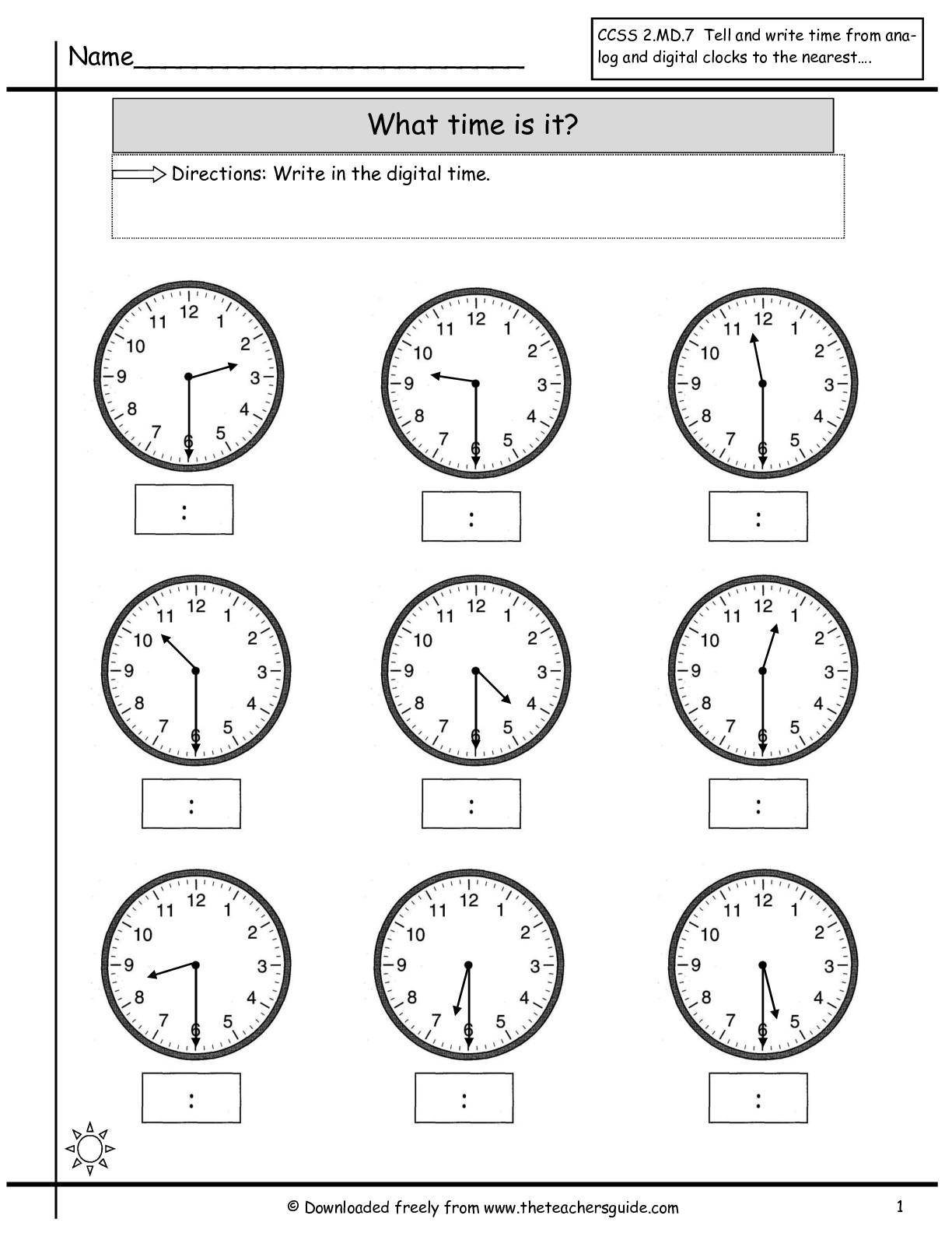 14 Best Images Of Half Past Clock Worksheets