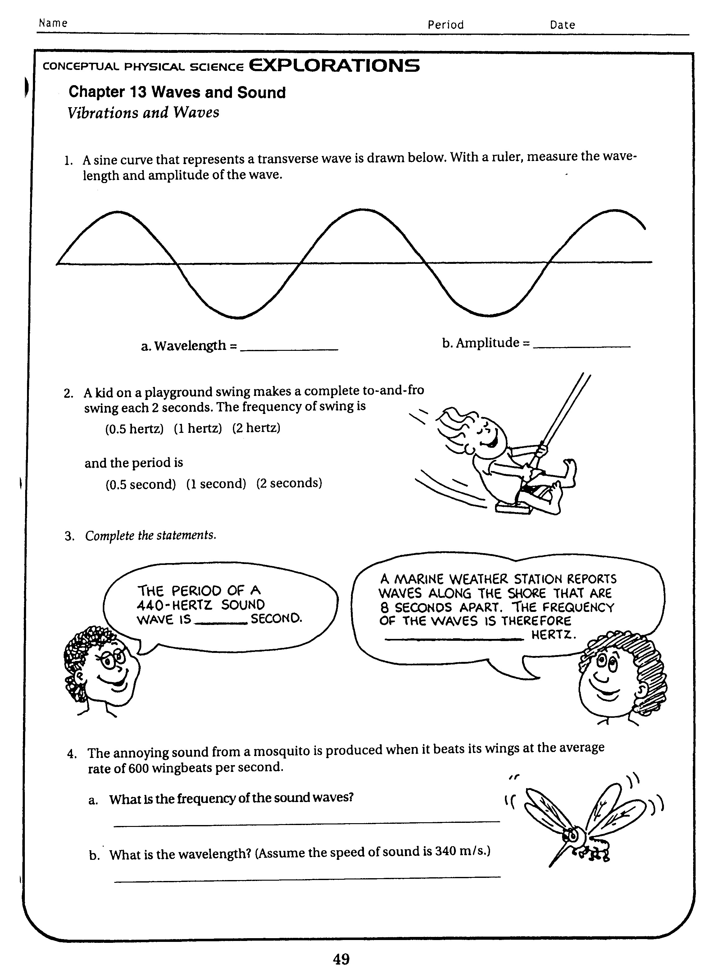 Answers To Worksheet Labeling Waves
