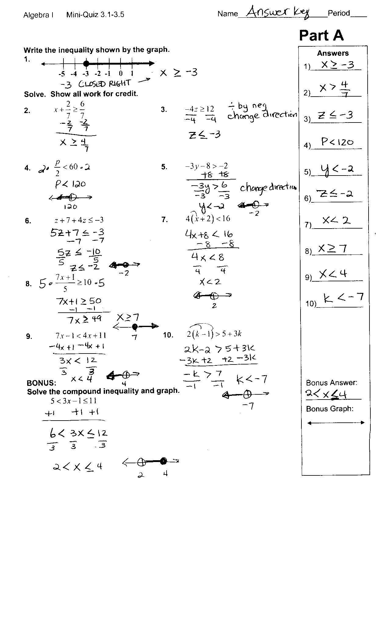 15 Best Images Of Glencoe Algebra 2 Worksheet Answers