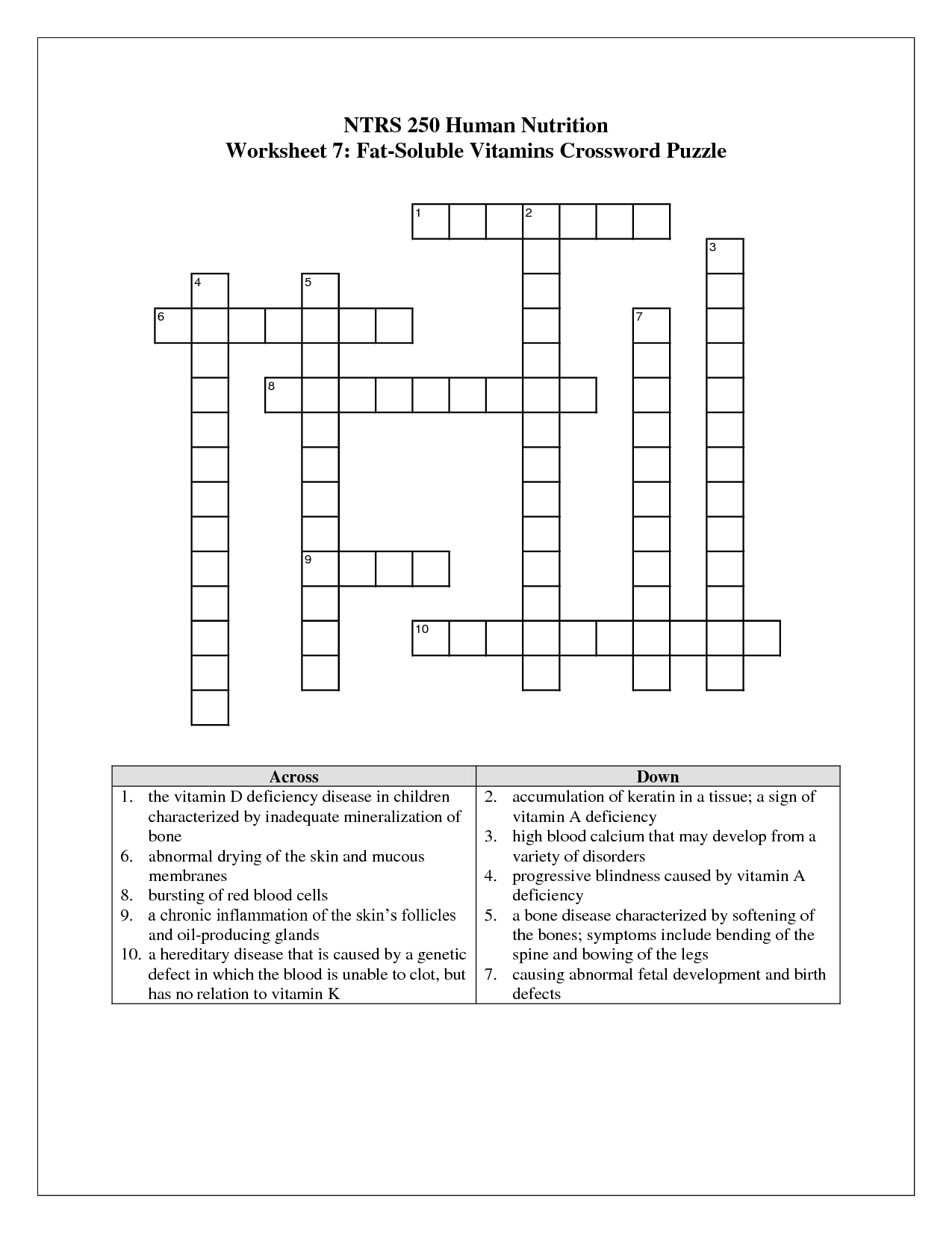 18 Best Images Of Puzzle Worksheets For Middle School