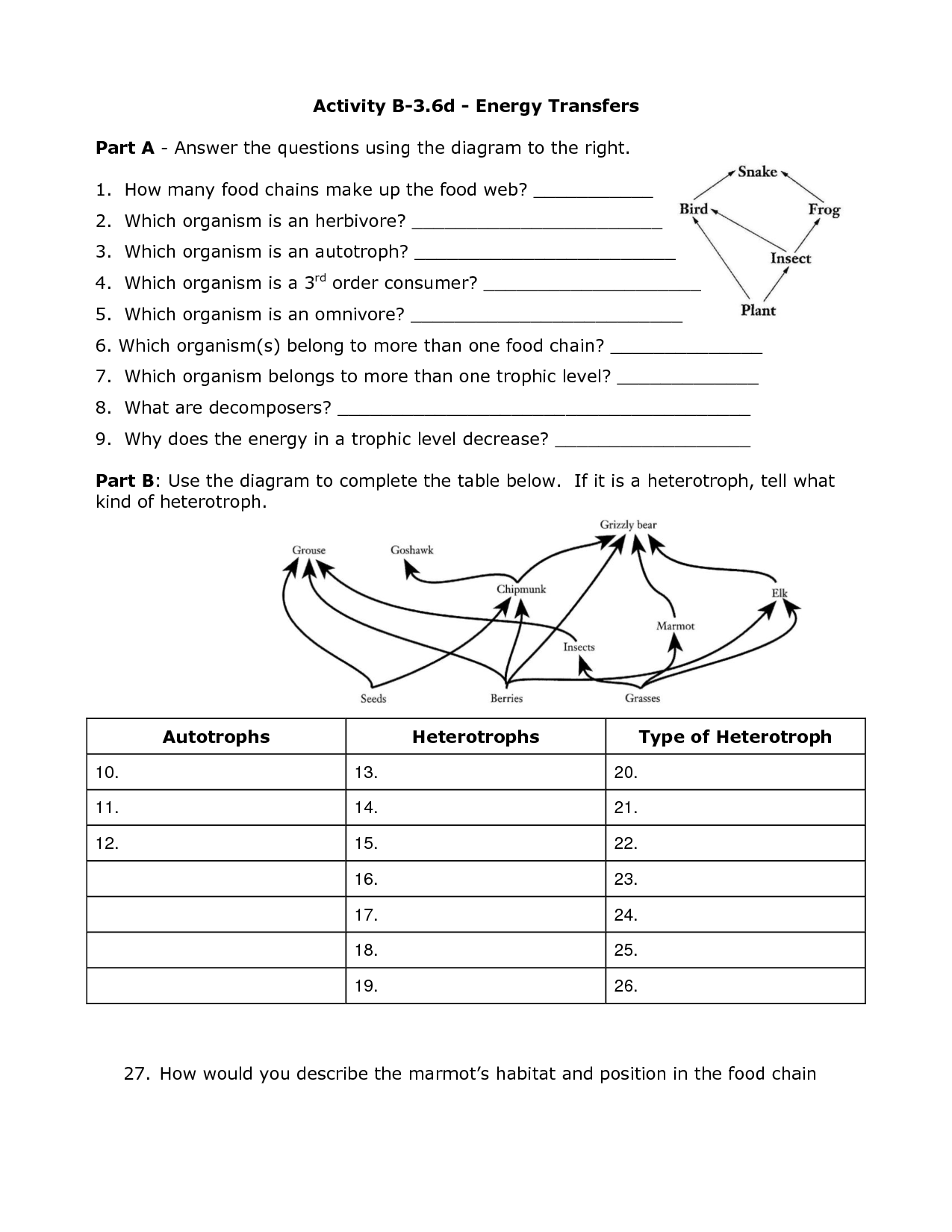 34 Energy Transformations And Conservation Worksheet