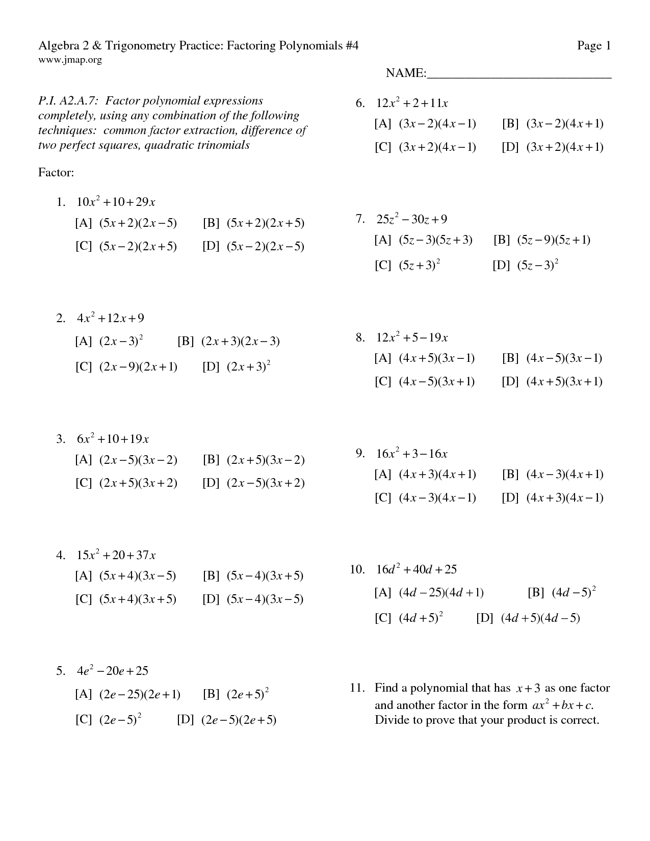 17 Best Images Of Infinite Algebra 2 Worksheets Answers