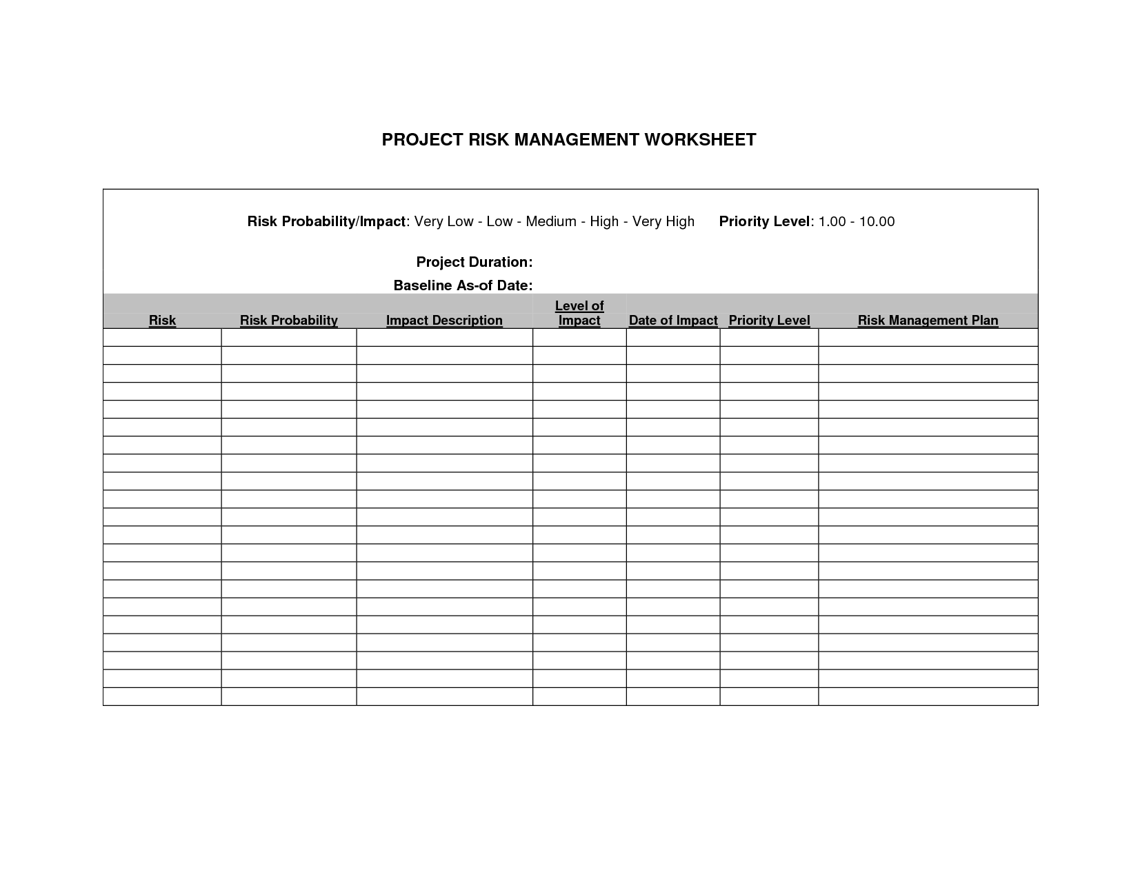 Composite Risk Management Worksheet Army Pt Example