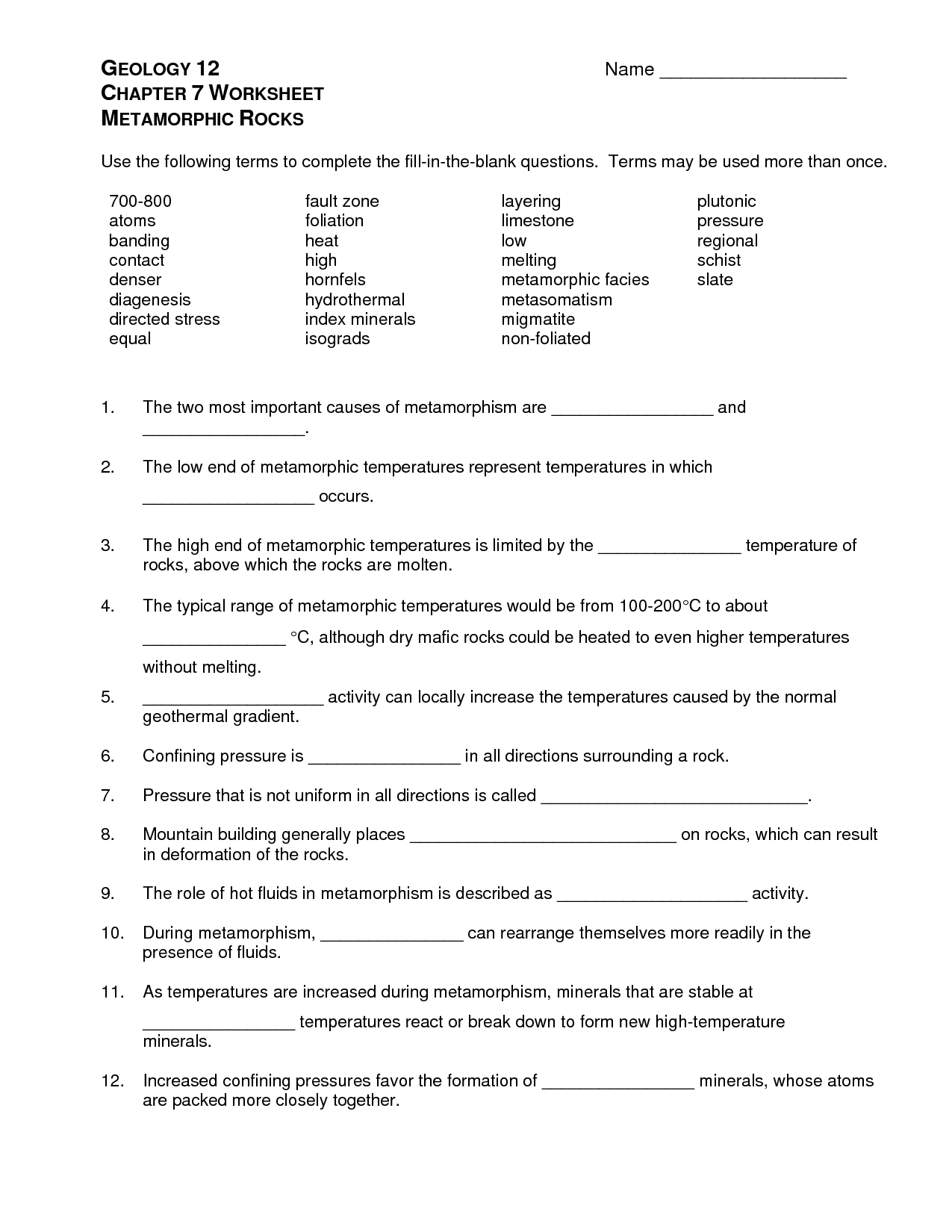 35 Sedimentary Rocks Worksheet Answers
