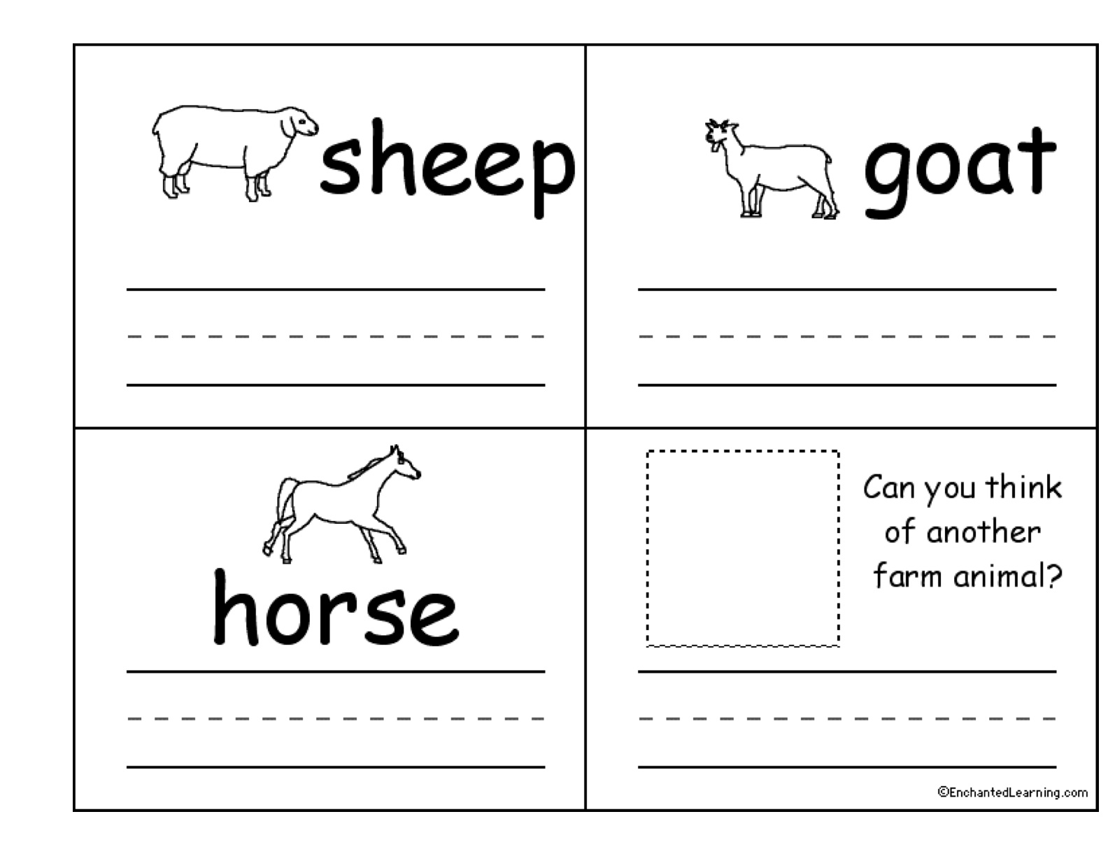 Pre Kindergarten Worksheet On The Farm With Baby Mom