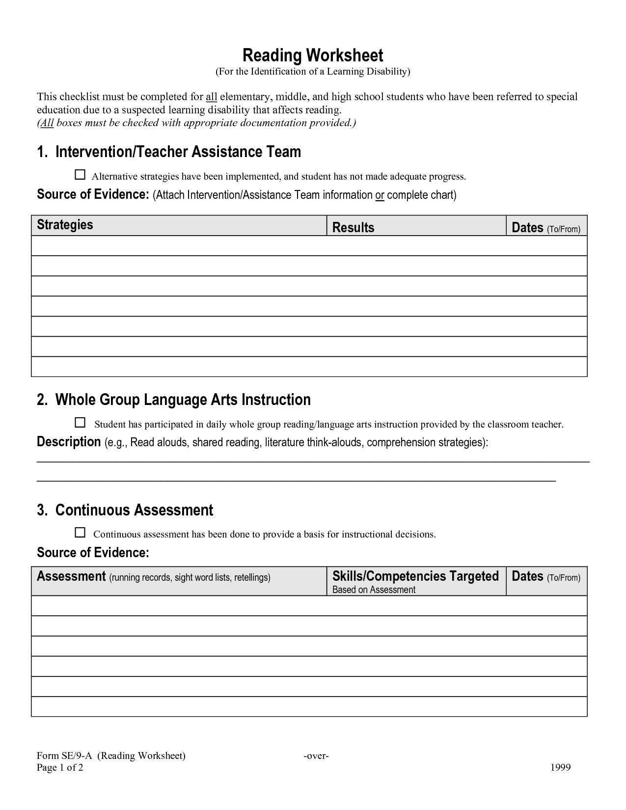 Idioms Worksheet Middle School