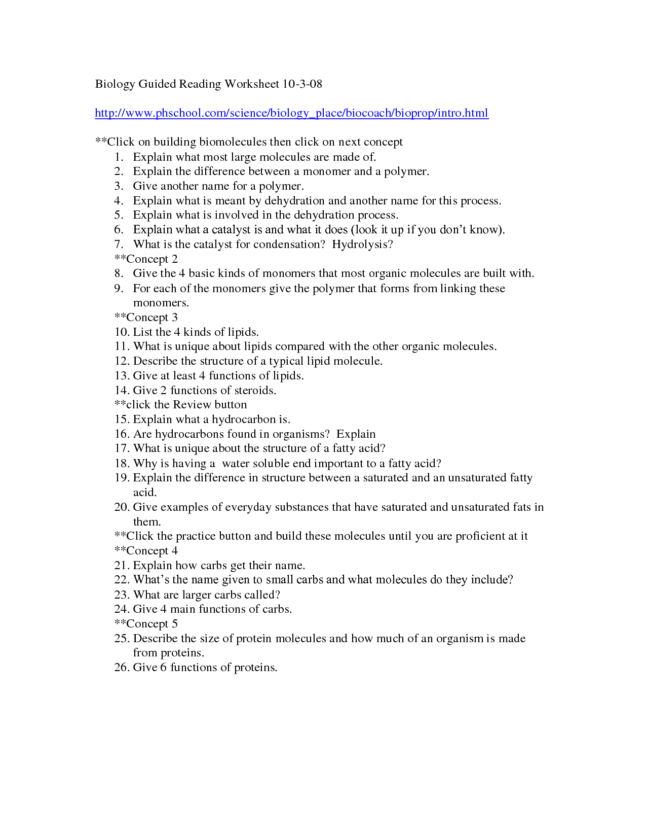 15 Best Images Of Prentice Hall Biology Worksheets Dna