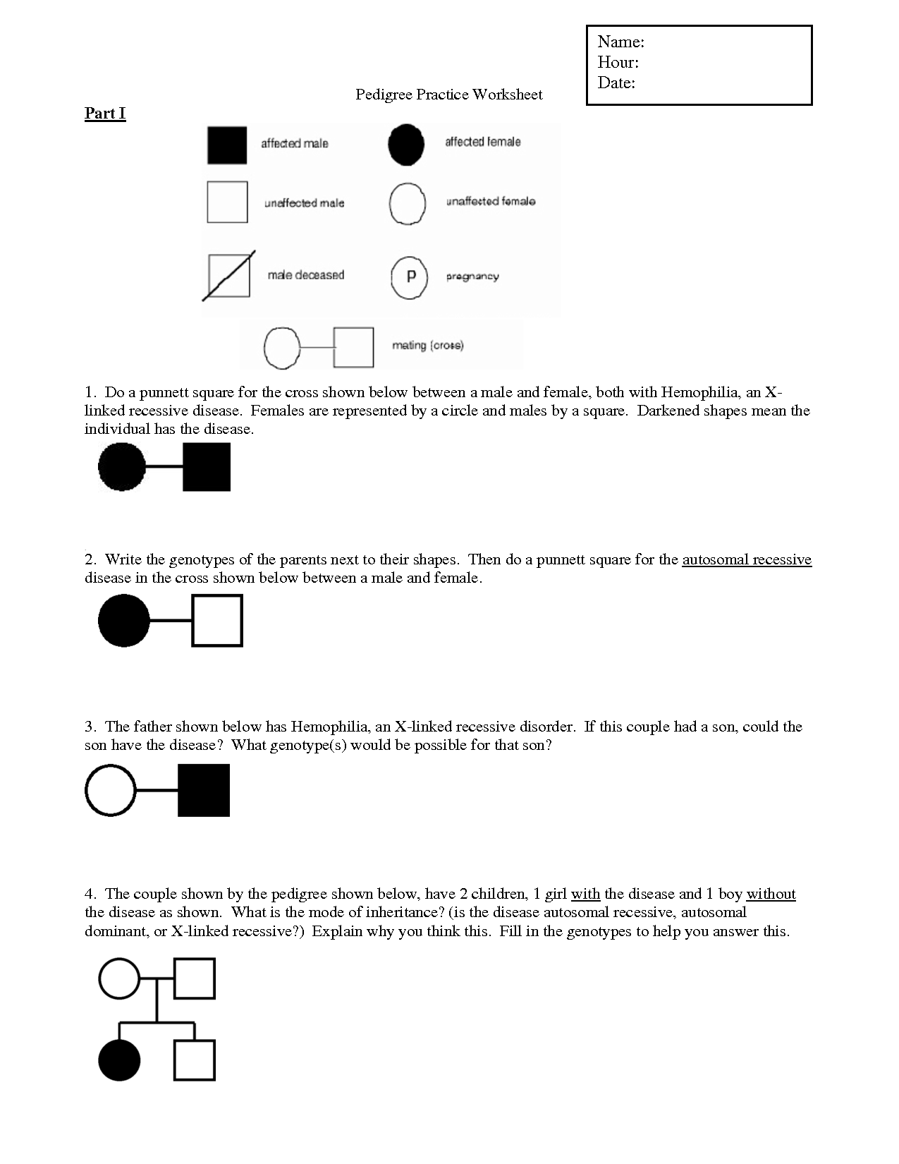 15 Best Images Of Pedigree Problem Worksheet Answers