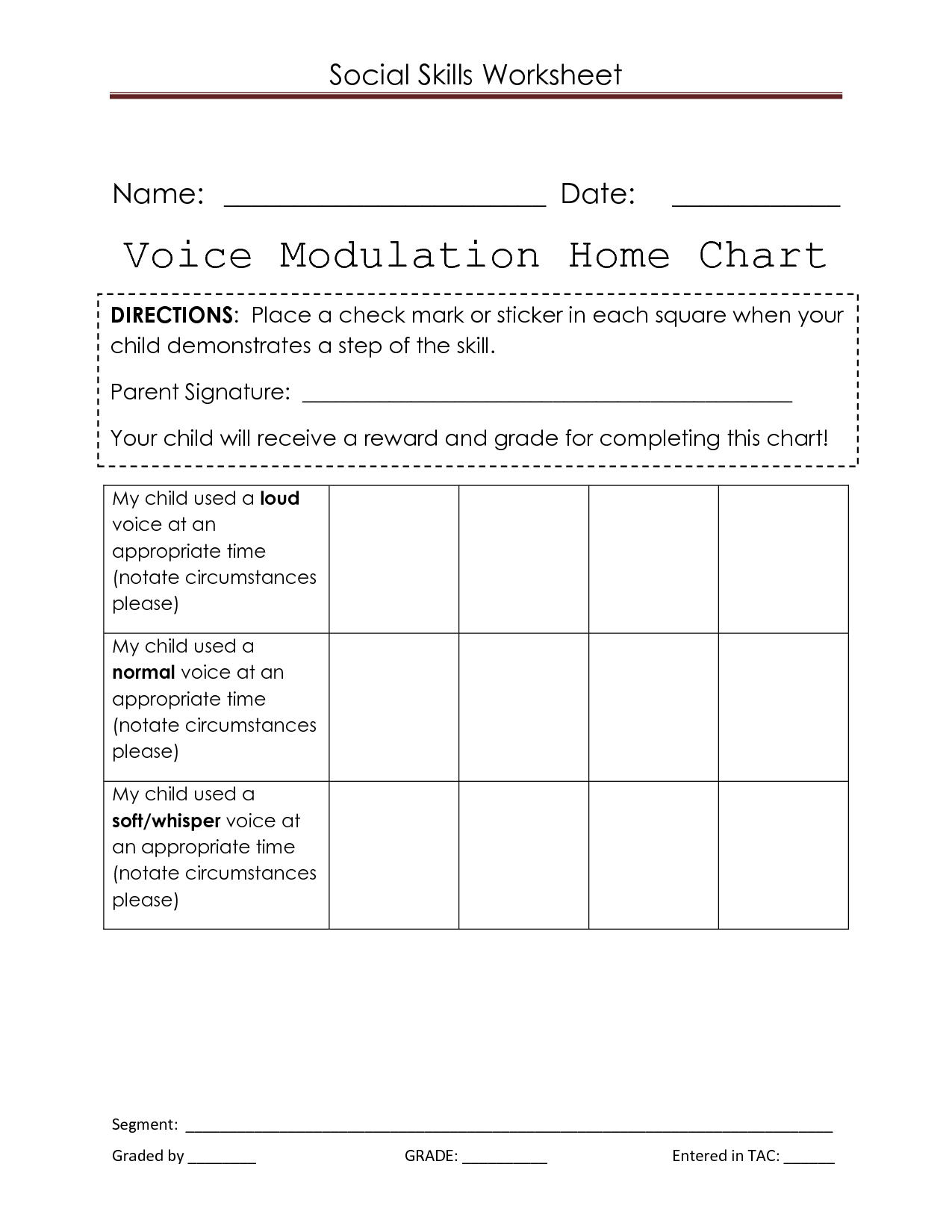 Responsibility Group Worksheet