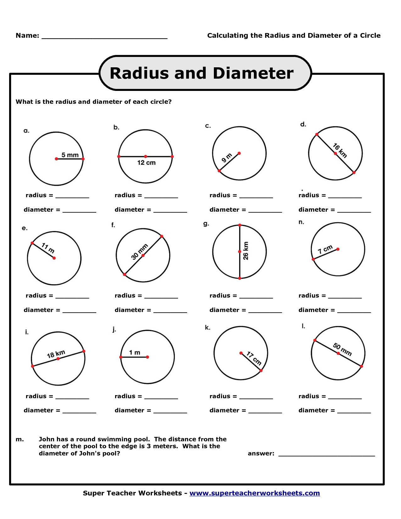 Radius And Diameter Pictures To Pin