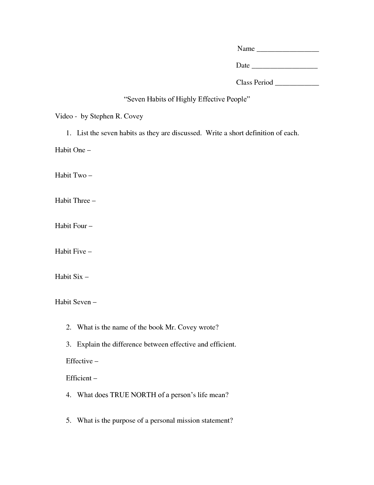 16 Best Images Of Healthy Habits Worksheets For Teens