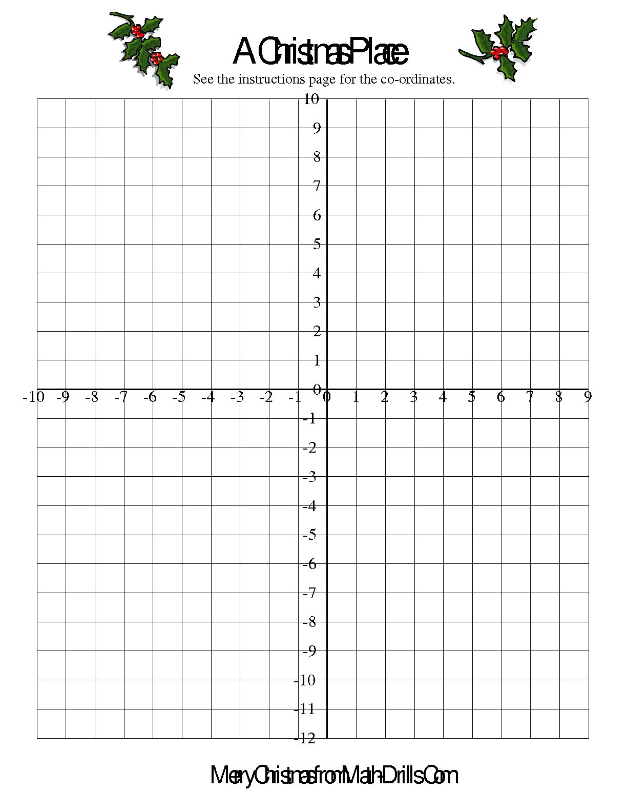 12 Best Images Of Free Christmas Coordinate Graphing