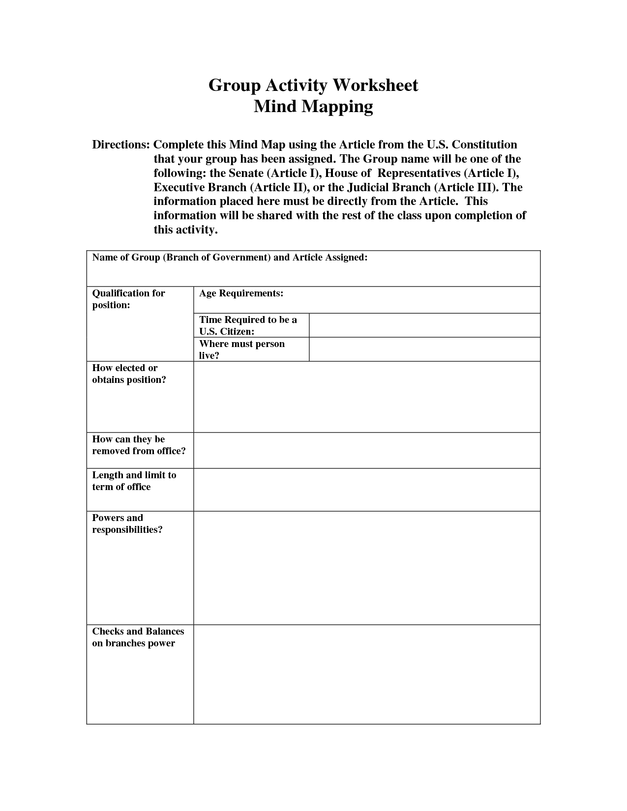 7 Best Images Of Constitutional Rights Worksheet