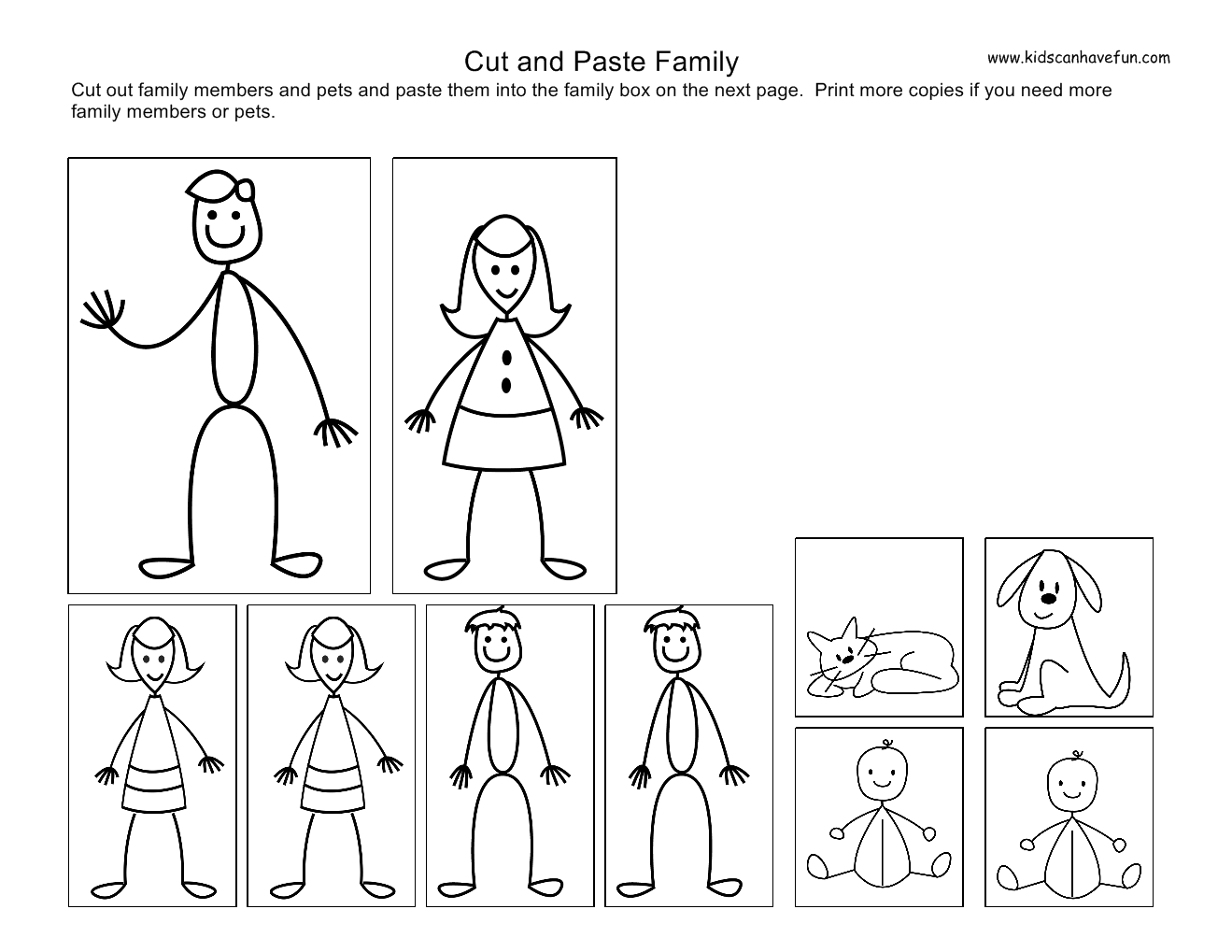 14 Best Images Of Printable Family Member Worksheets