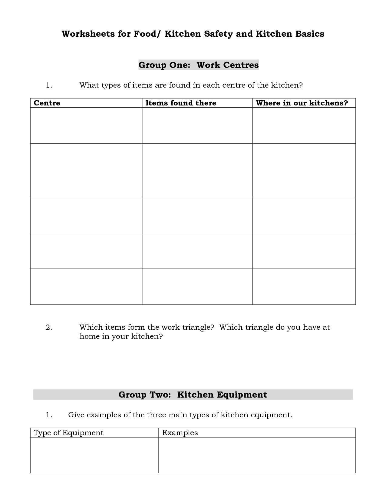 15 Best Images Of Cooking Safety Worksheets