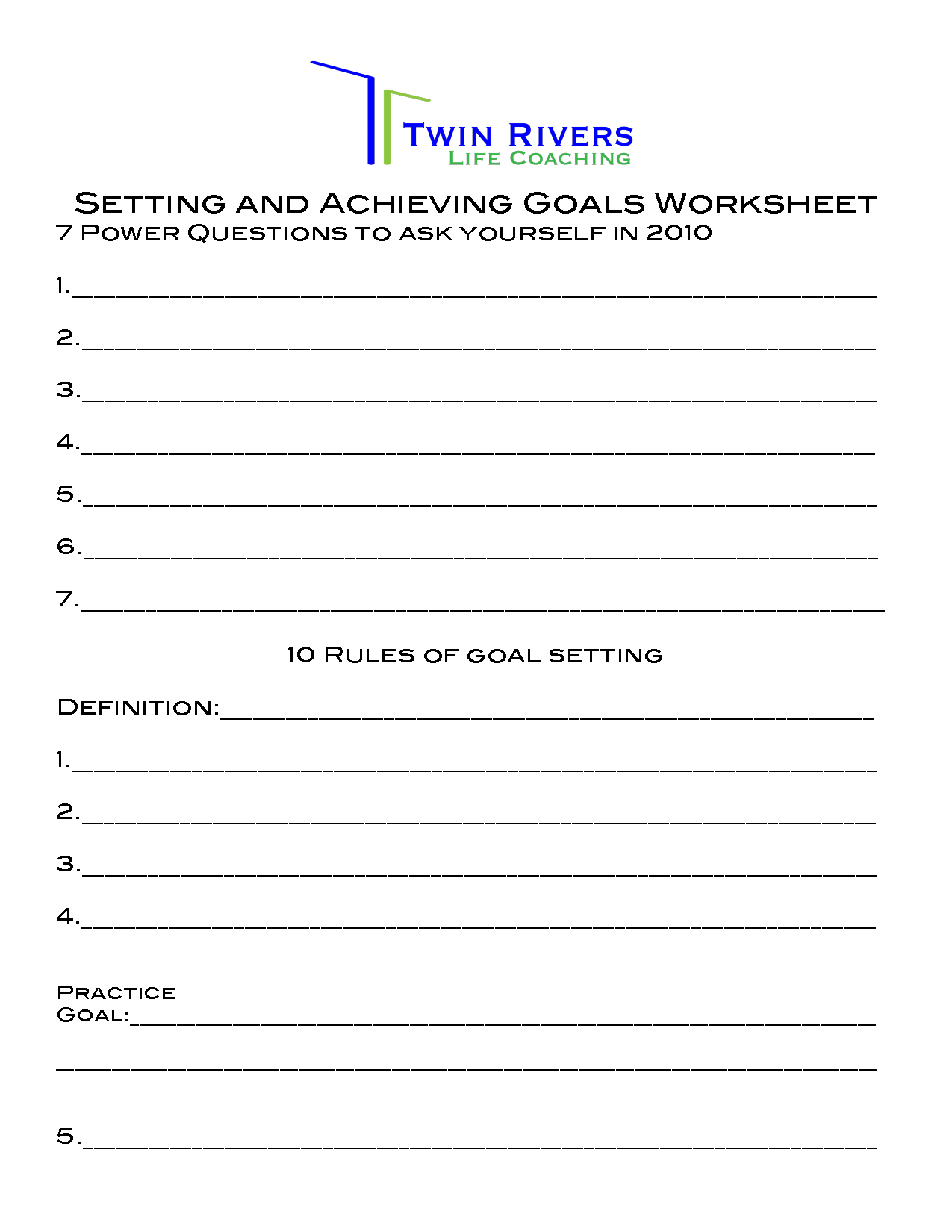 14 Best Images Of Brian Tracy Goal Setting Worksheet