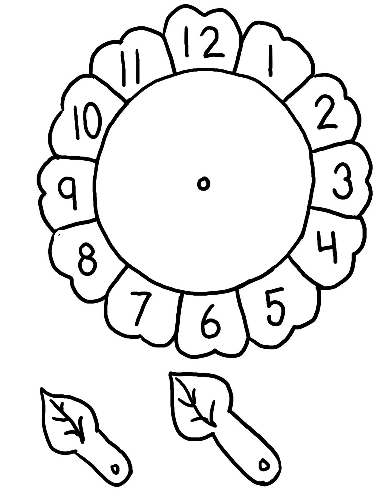 12 Best Images Of Flower Clock Worksheet