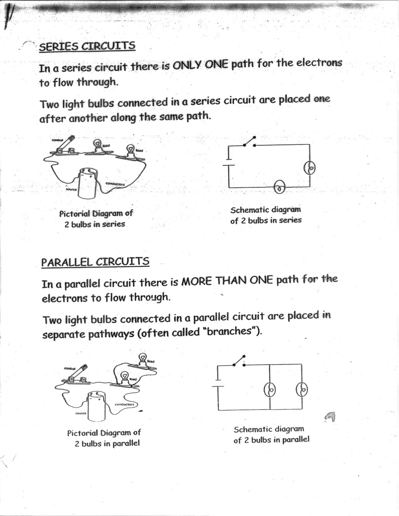 12 Best Images Of Series Parallel Circuit Worksheet