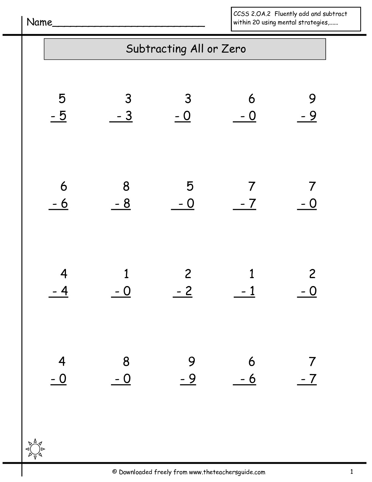 15 Best Images Of Single Addition And Subtraction Worksheets