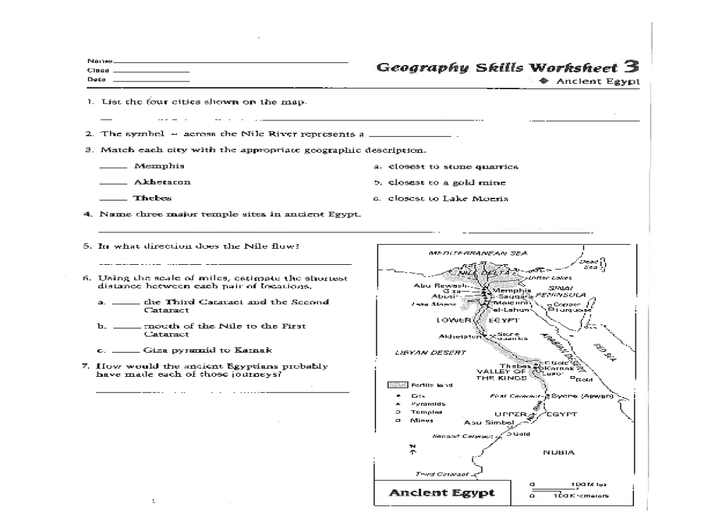 7 Best Images Of Ancient Egypt Geography Worksheet