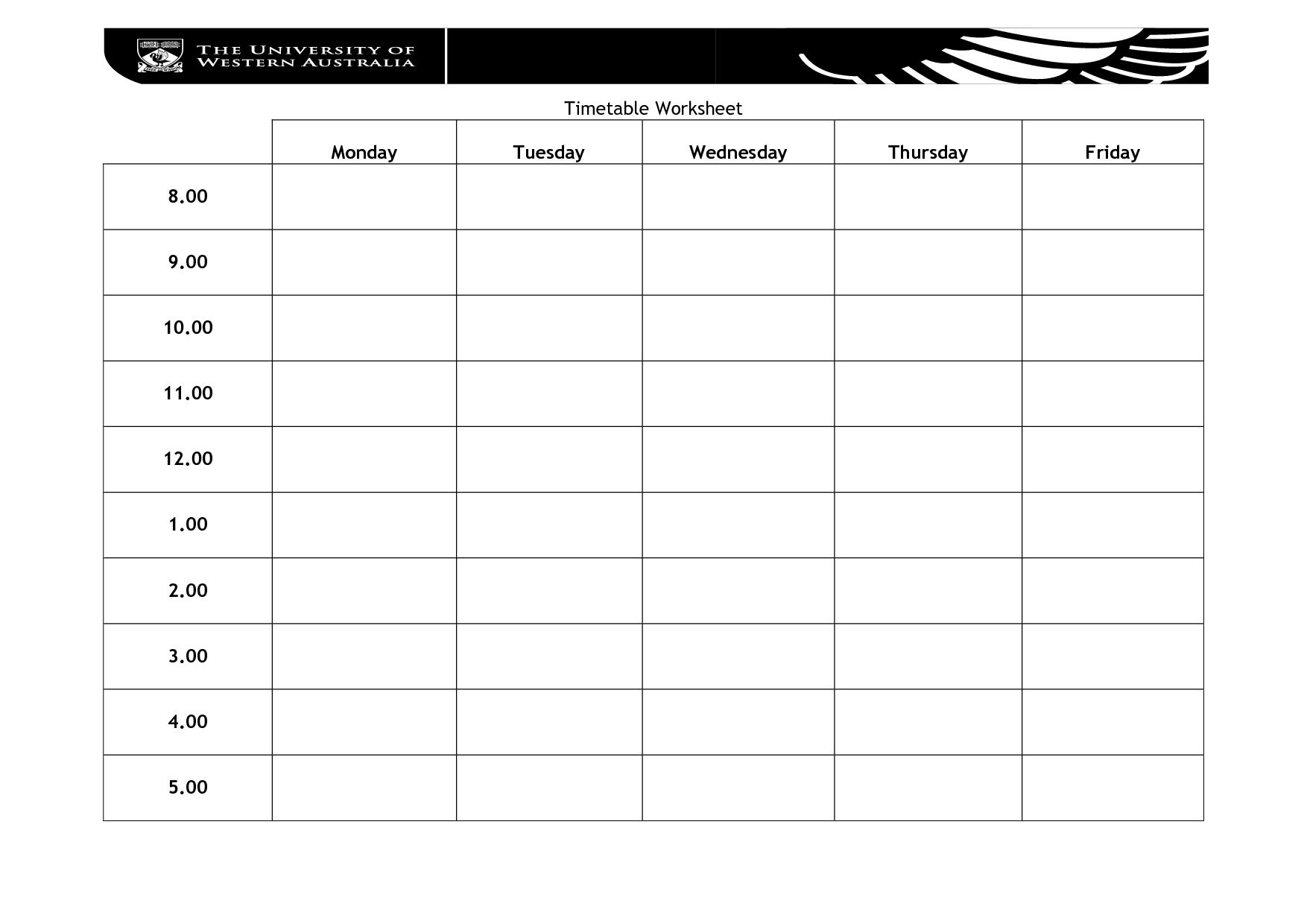 12 Best Images Of Blank Worksheet Activities