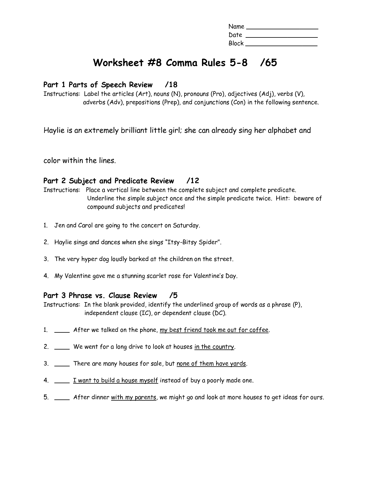 17 Best Images Of Punctuation Rules Worksheet