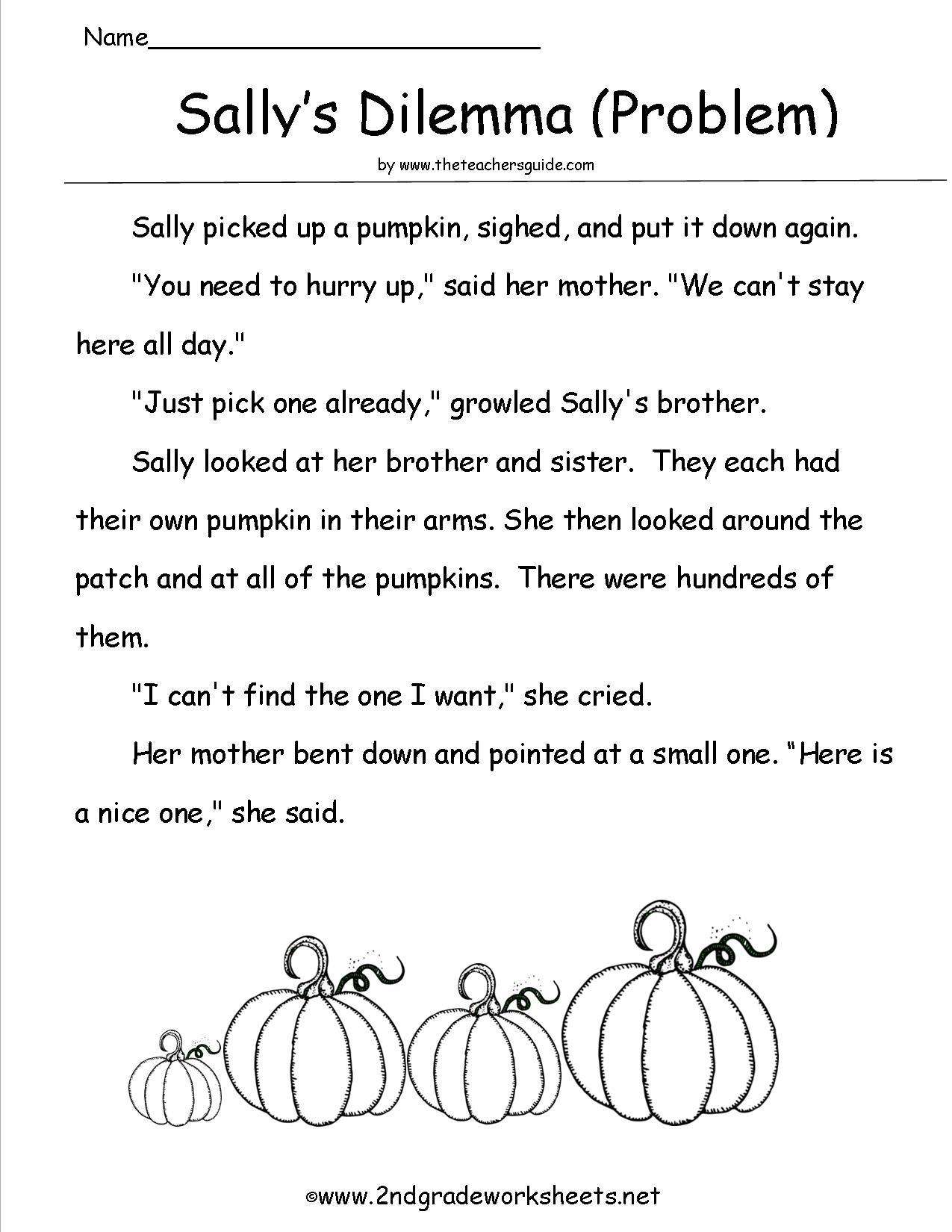 16 Best Images Of Carving A Pumpkin Reading Worksheet