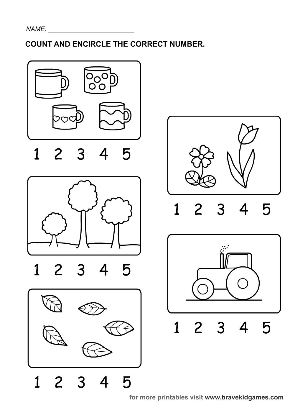 9 Best Images Of Number Worksheets For Toddlers