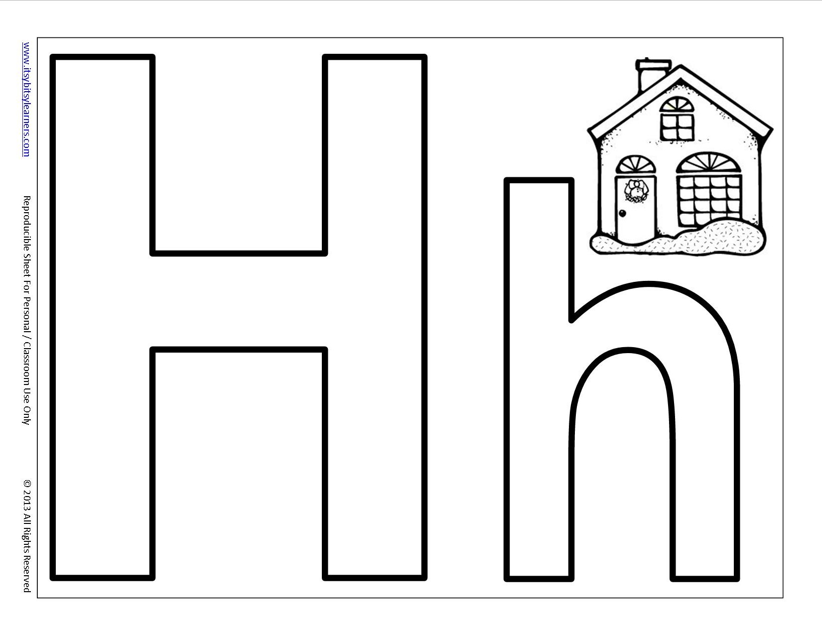 12 Best Images Of Printable Letter H Worksheets Preschool