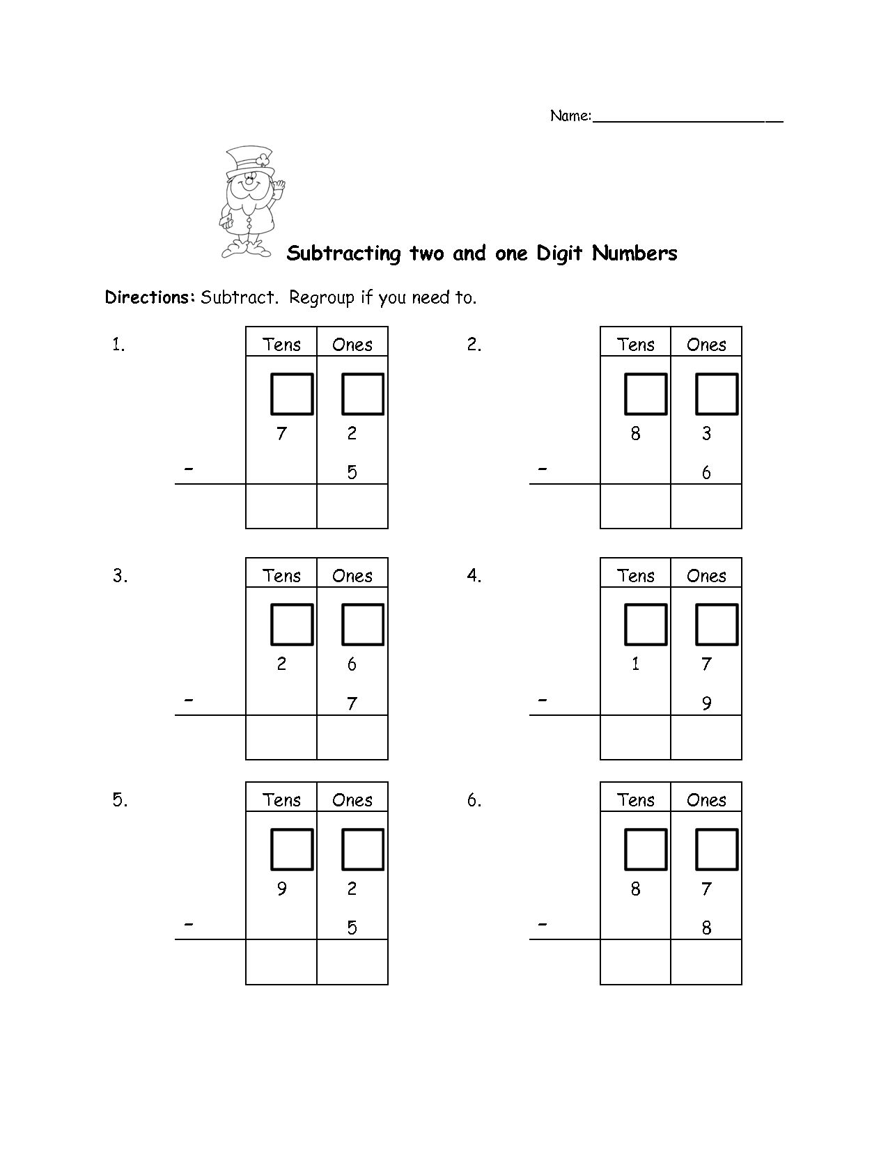 Adding And Subtracting Tens And Hundreds Worksheets