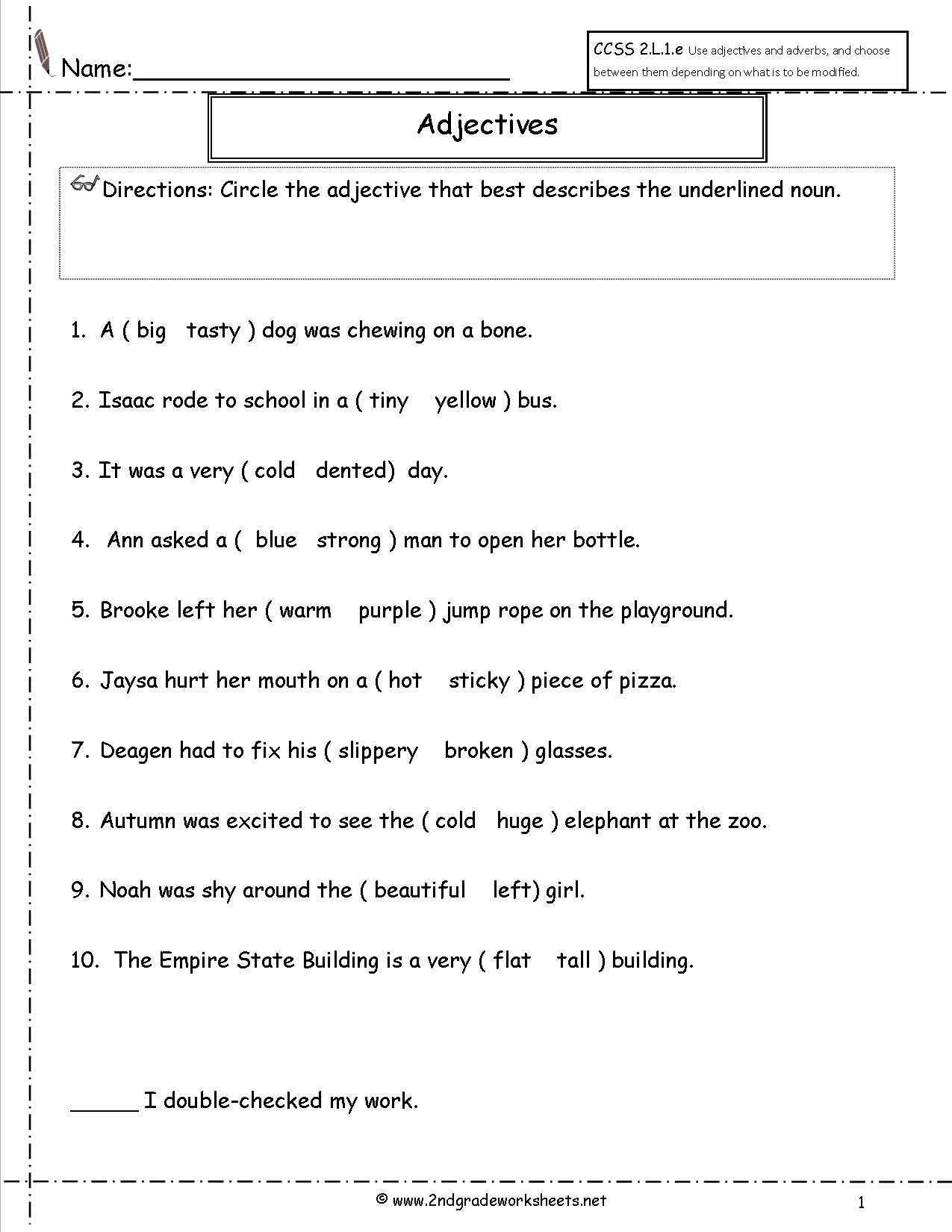 1st Grade Worksheet Category Page 7
