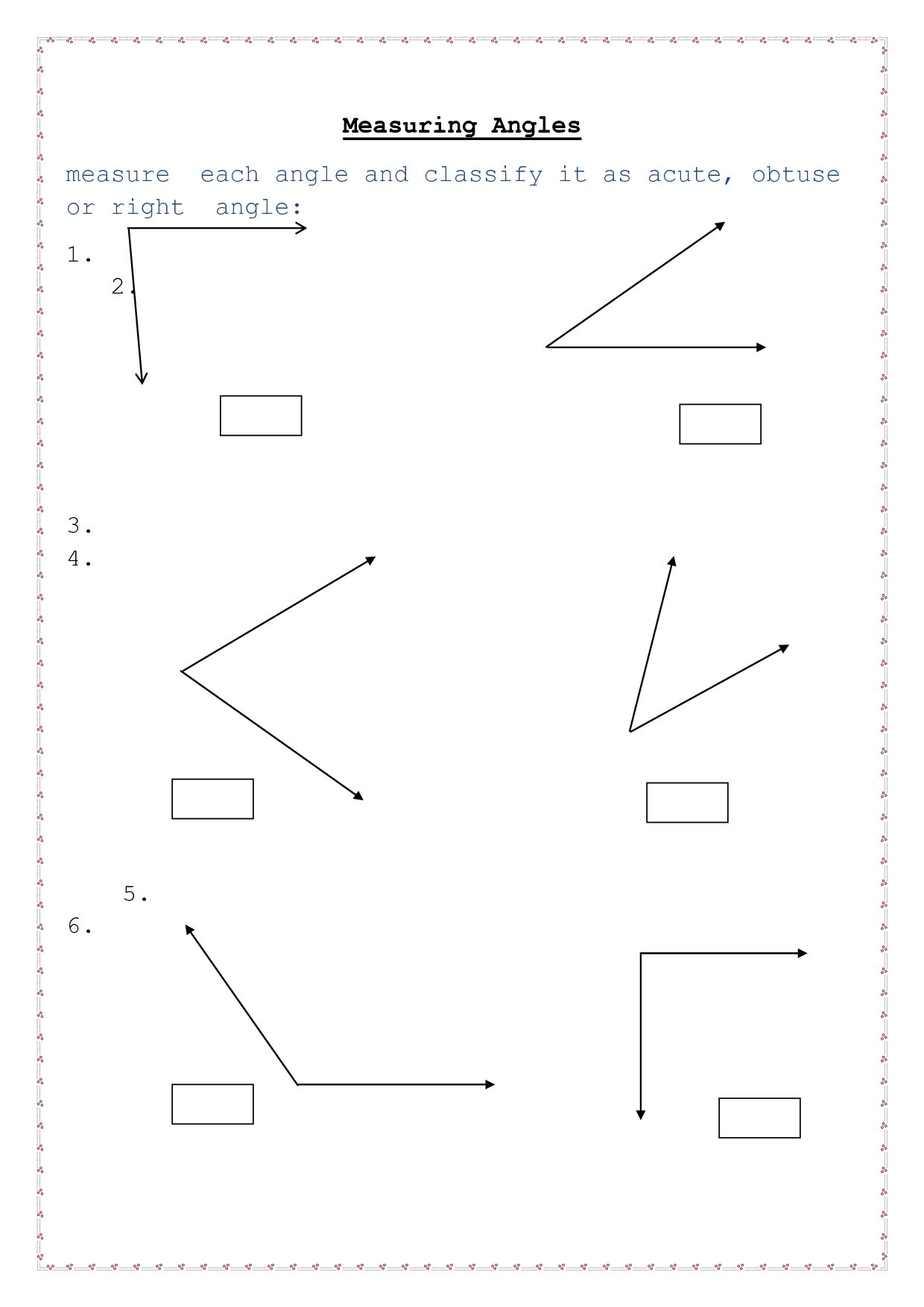 14 Best Images Of Degree Angle Worksheets